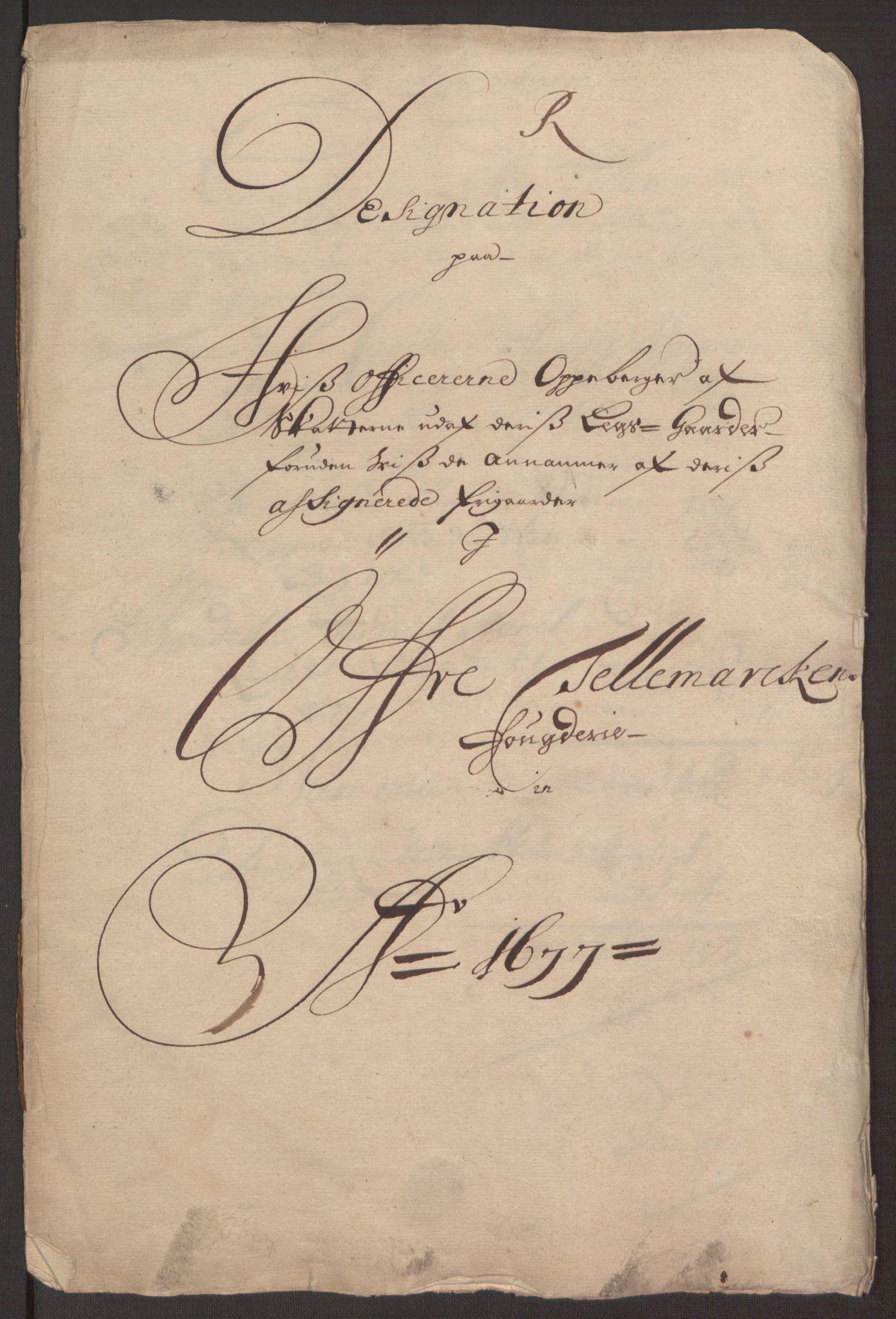 RA, Rentekammeret inntil 1814, Reviderte regnskaper, Fogderegnskap, R35/L2067: Fogderegnskap Øvre og Nedre Telemark, 1677, s. 363