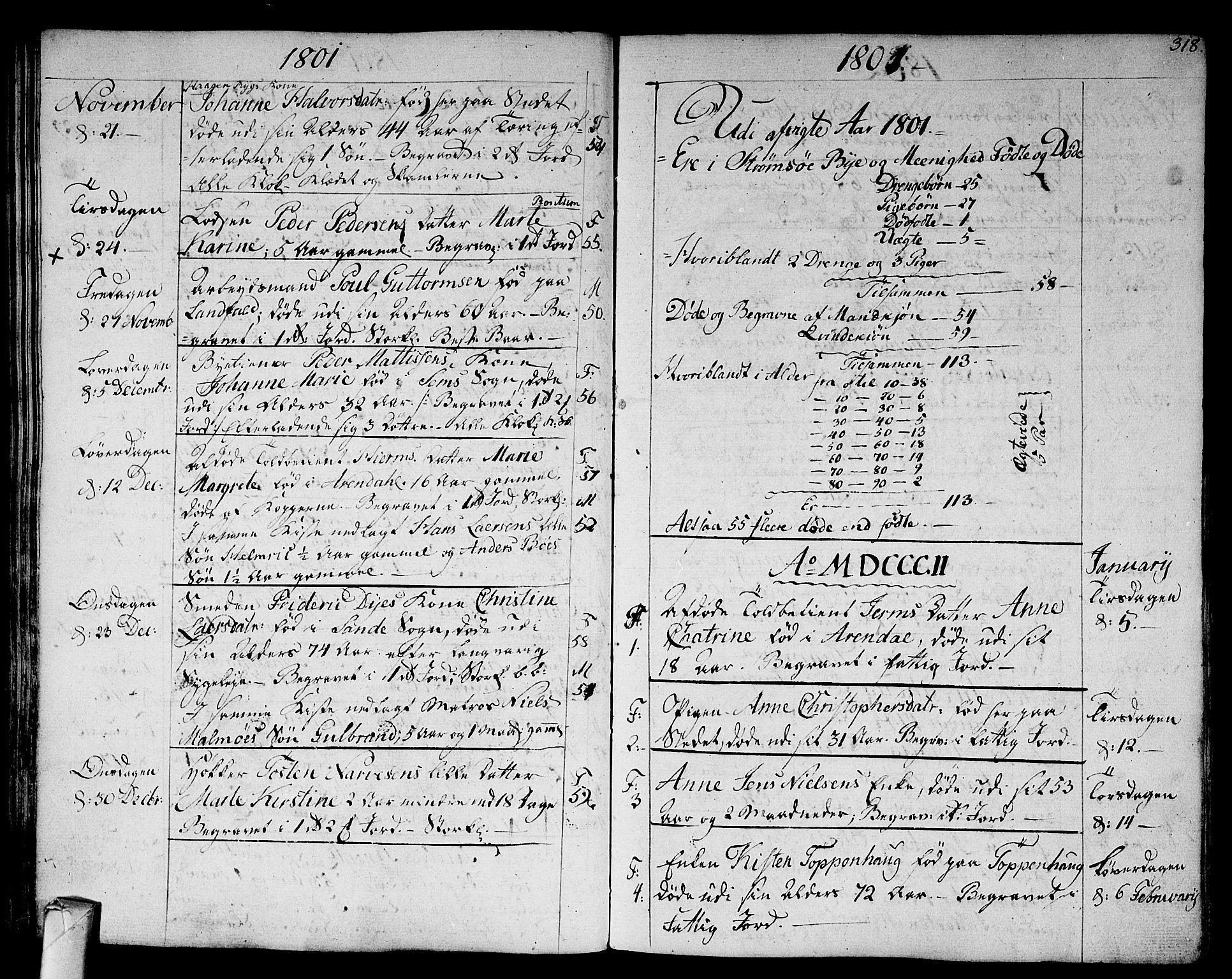 SAKO, Strømsø kirkebøker, F/Fa/L0010: Ministerialbok nr. I 10, 1792-1822, s. 318
