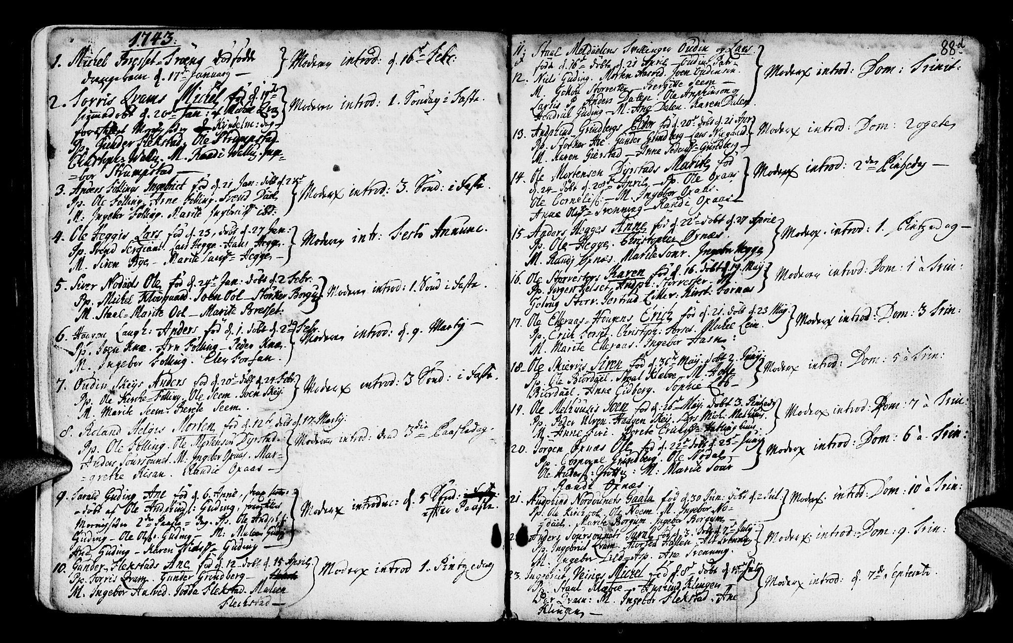SAT, Ministerialprotokoller, klokkerbøker og fødselsregistre - Nord-Trøndelag, 746/L0439: Ministerialbok nr. 746A01, 1688-1759, s. 88e