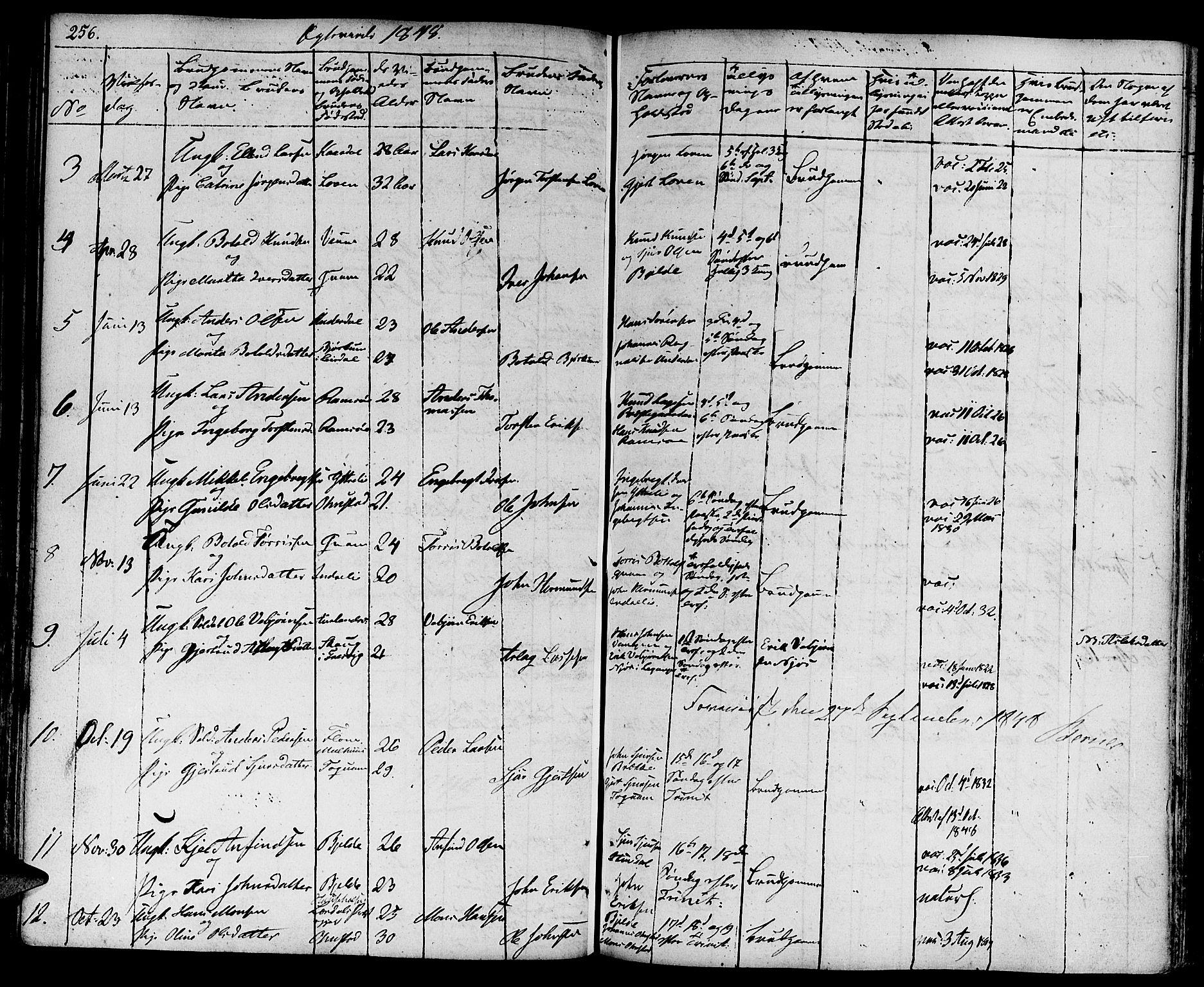 SAB, Aurland Sokneprestembete*, Ministerialbok nr. A 6, 1821-1859, s. 256