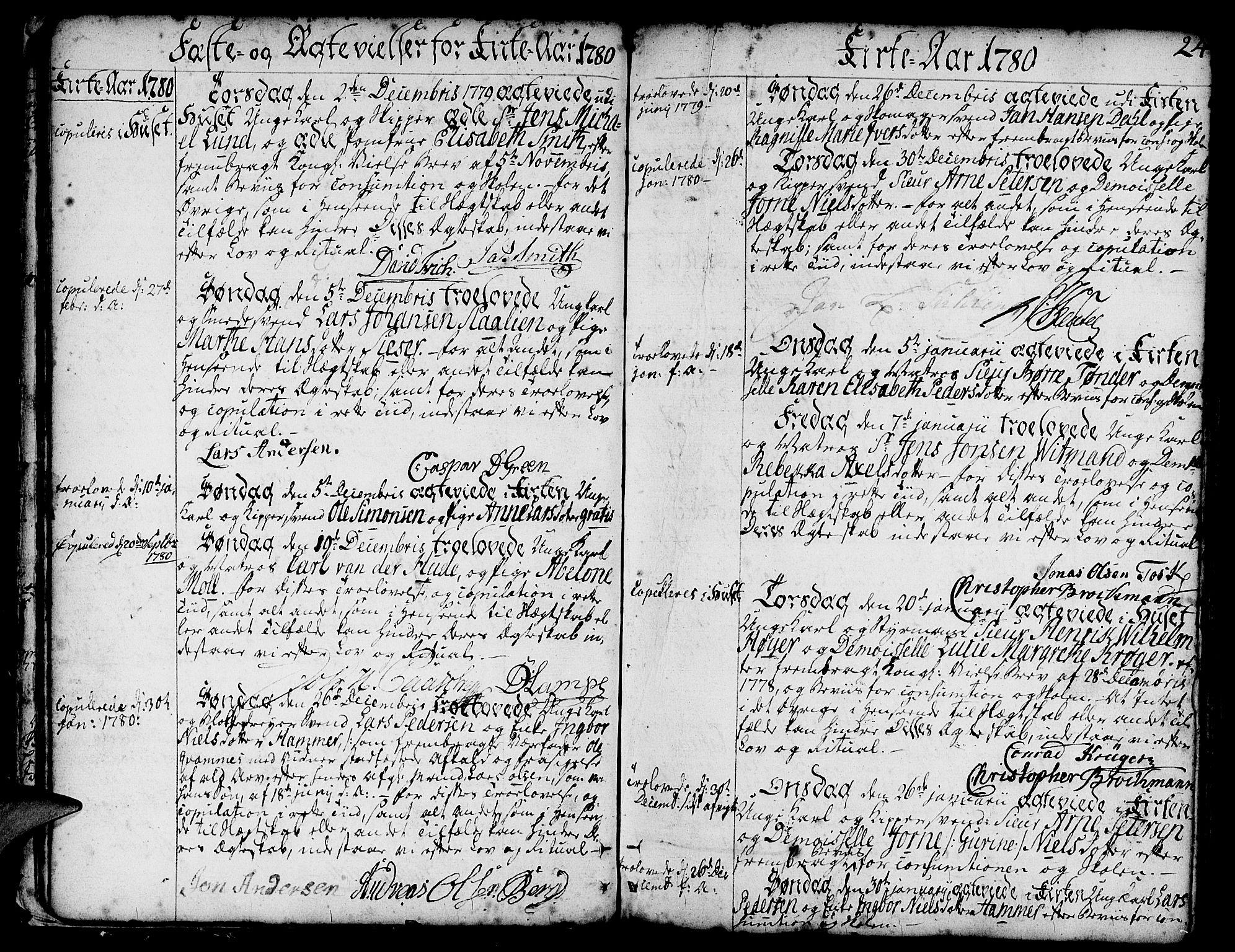 SAB, Nykirken Sokneprestembete, H/Haa: Ministerialbok nr. A 8, 1776-1814, s. 24