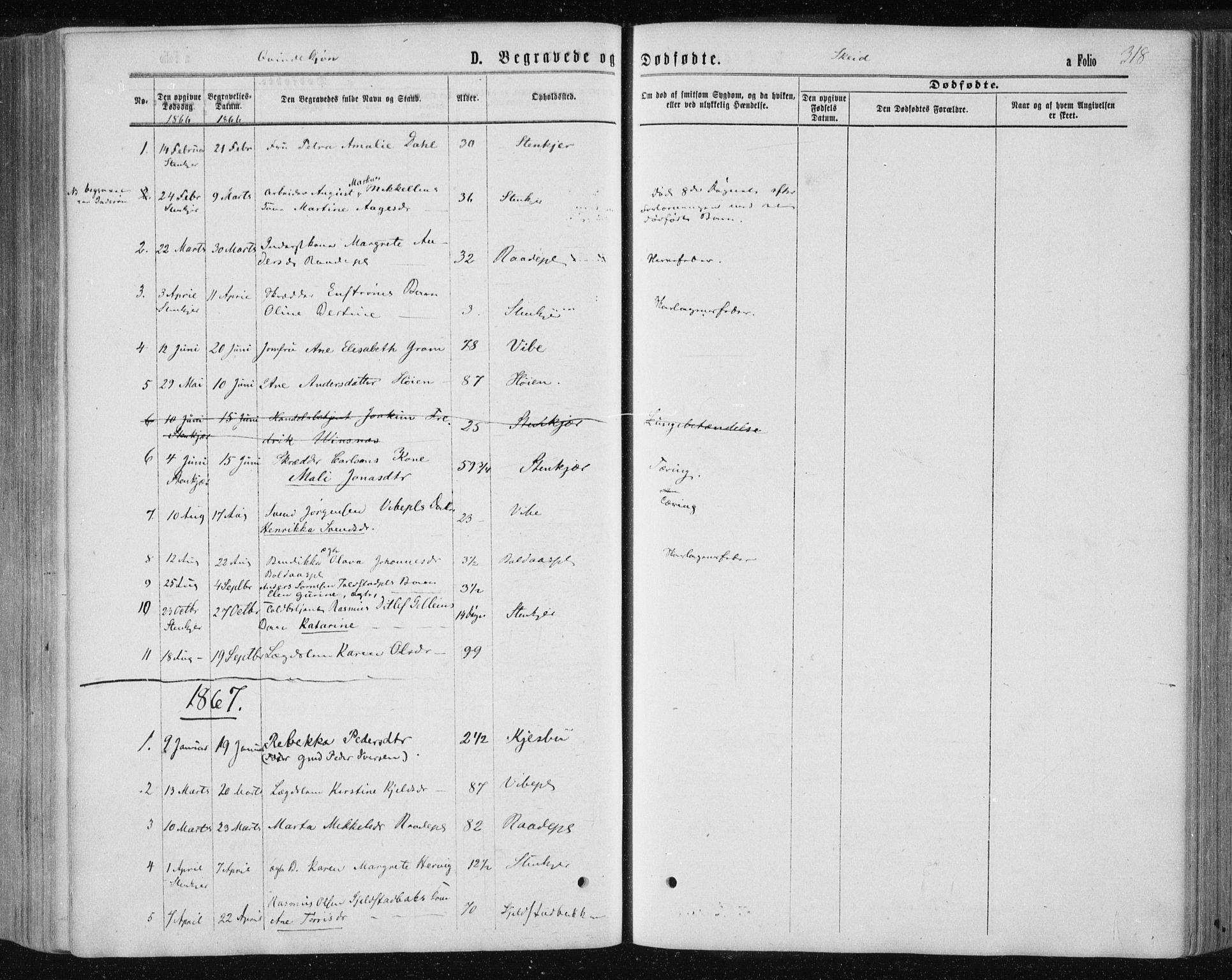 SAT, Ministerialprotokoller, klokkerbøker og fødselsregistre - Nord-Trøndelag, 735/L0345: Ministerialbok nr. 735A08 /2, 1863-1872, s. 318