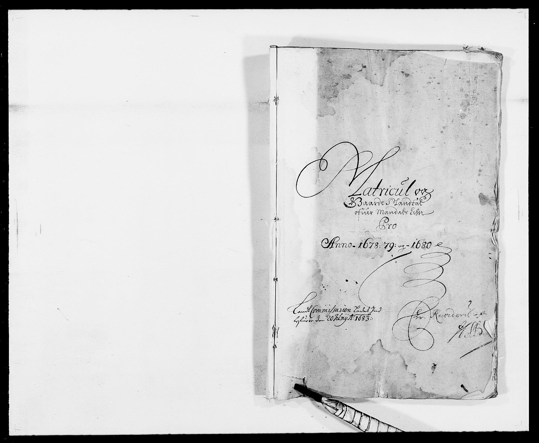 RA, Rentekammeret inntil 1814, Reviderte regnskaper, Fogderegnskap, R42/L2540: Mandal fogderi, 1676-1680, s. 78