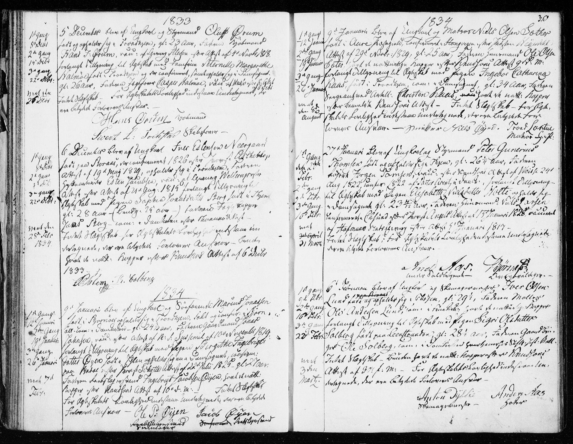 SAT, Ministerialprotokoller, klokkerbøker og fødselsregistre - Sør-Trøndelag, 601/L0046: Ministerialbok nr. 601A14, 1830-1841, s. 30