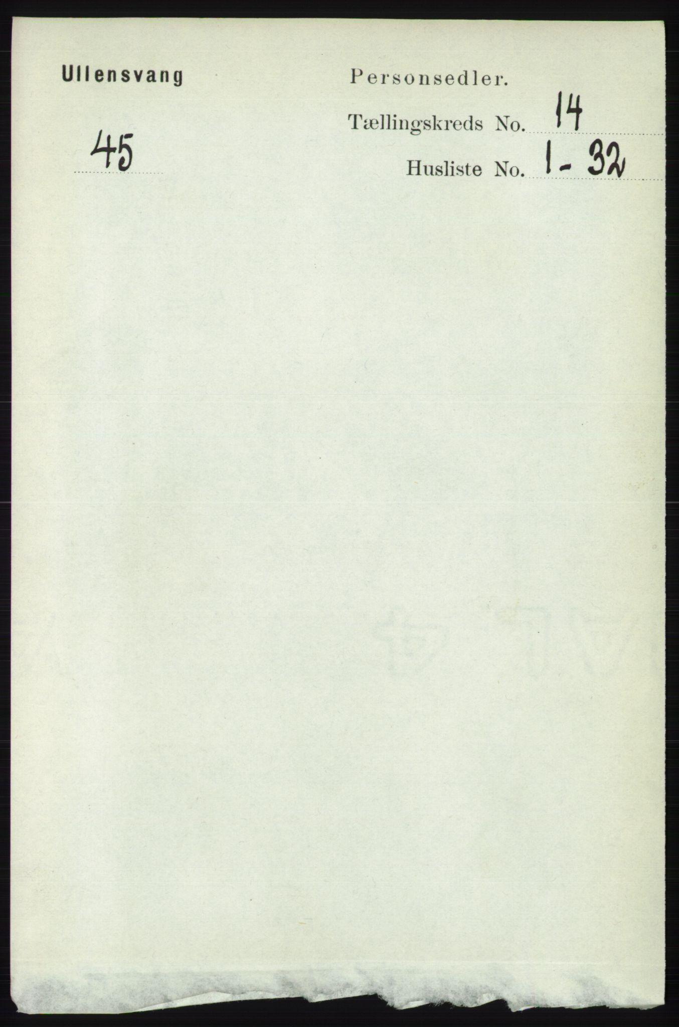 RA, Folketelling 1891 for 1230 Ullensvang herred, 1891, s. 5552