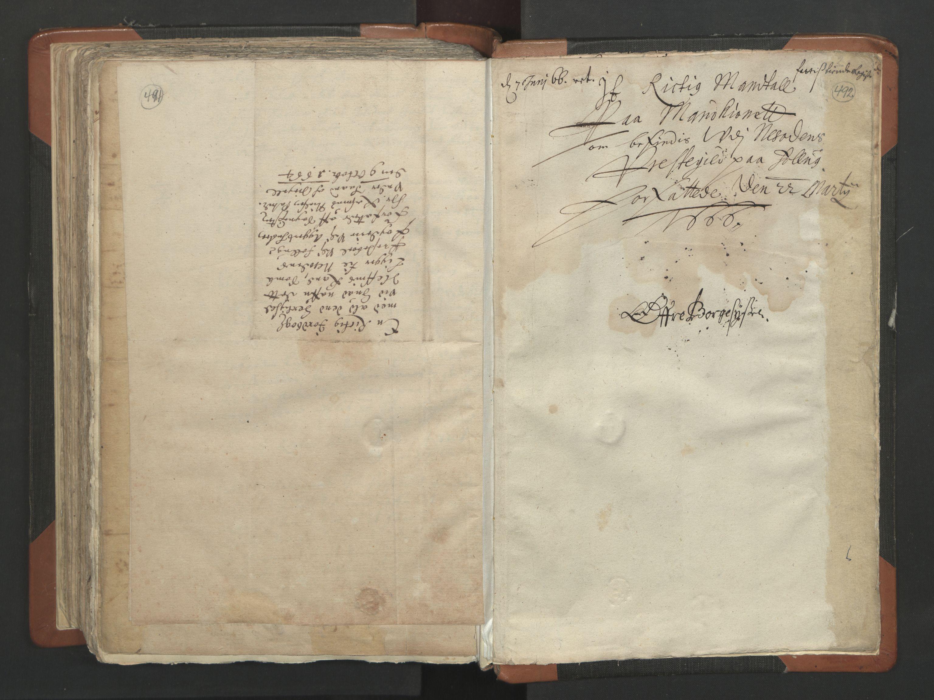 RA, Sogneprestenes manntall 1664-1666, nr. 2: Øvre Borgesyssel prosti, 1664-1666, s. 491-492
