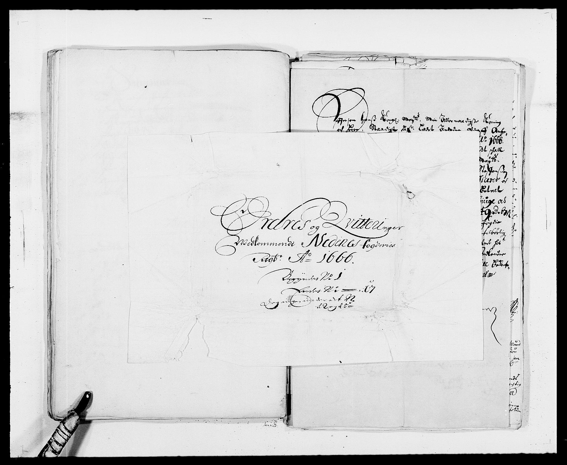 RA, Rentekammeret inntil 1814, Reviderte regnskaper, Fogderegnskap, R39/L2296: Fogderegnskap Nedenes, 1664-1666, s. 441