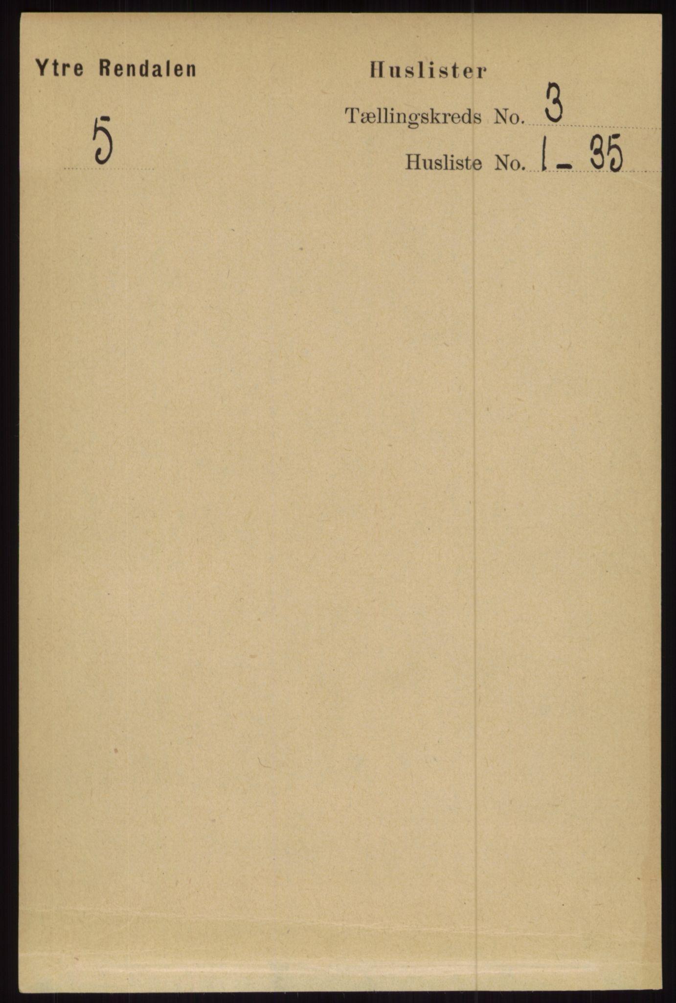 RA, Folketelling 1891 for 0432 Ytre Rendal herred, 1891, s. 369