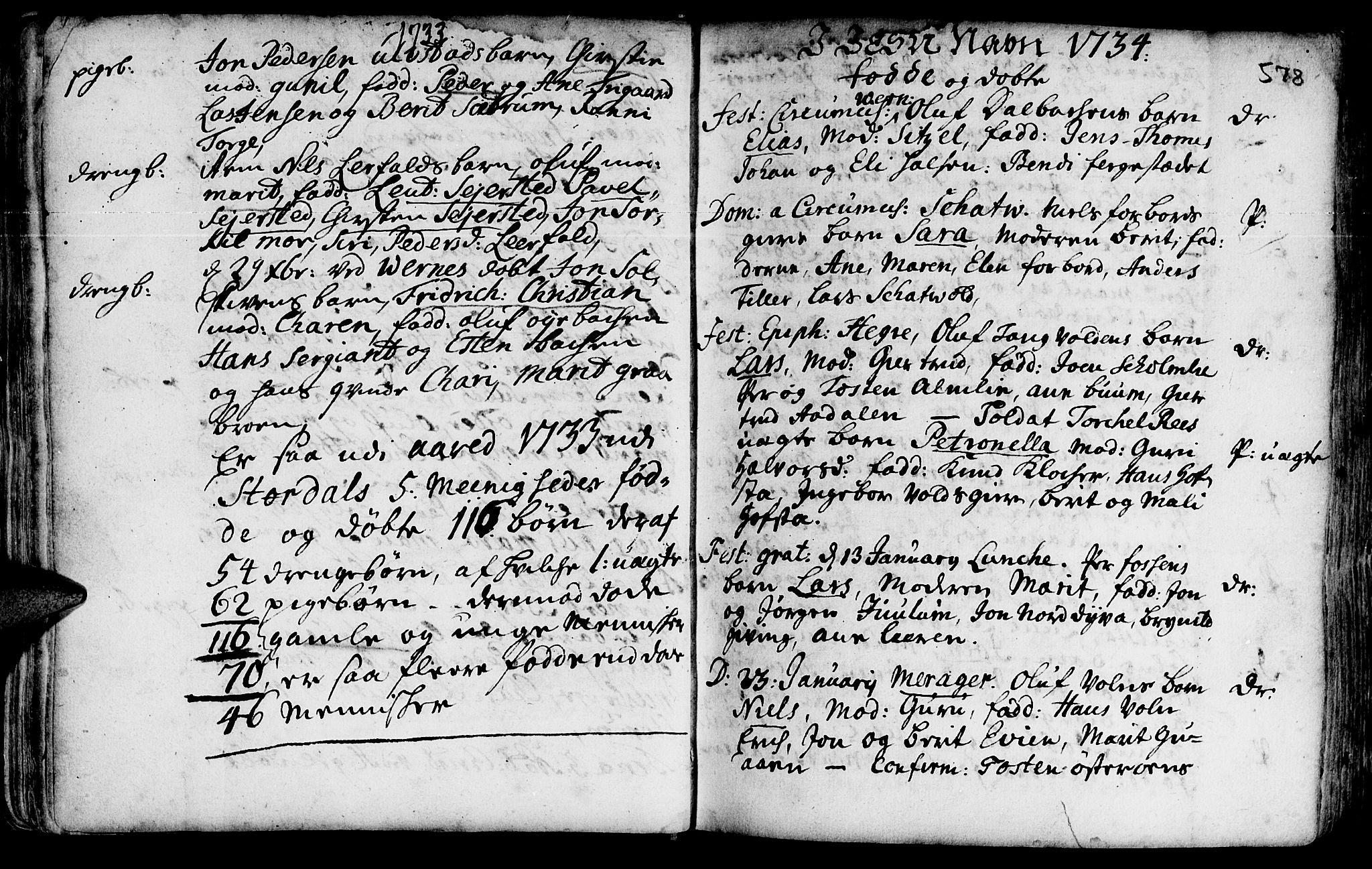 SAT, Ministerialprotokoller, klokkerbøker og fødselsregistre - Nord-Trøndelag, 709/L0055: Ministerialbok nr. 709A03, 1730-1739, s. 577-578