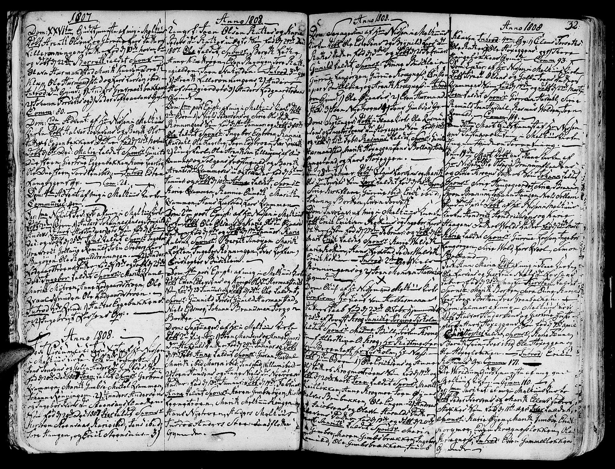 SAT, Ministerialprotokoller, klokkerbøker og fødselsregistre - Sør-Trøndelag, 691/L1061: Ministerialbok nr. 691A02 /1, 1768-1815, s. 32