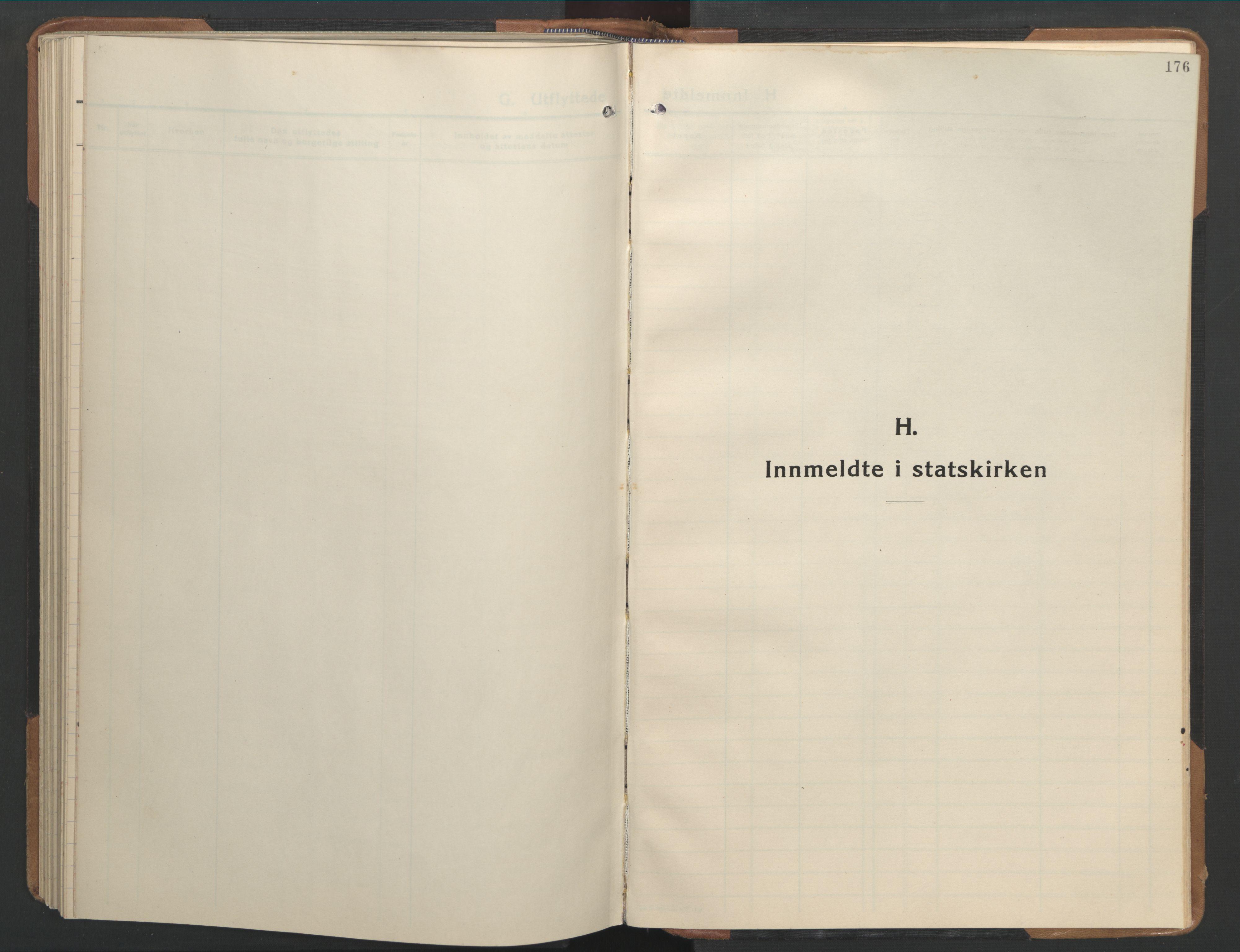 SAT, Ministerialprotokoller, klokkerbøker og fødselsregistre - Sør-Trøndelag, 655/L0690: Klokkerbok nr. 655C06, 1937-1950, s. 176
