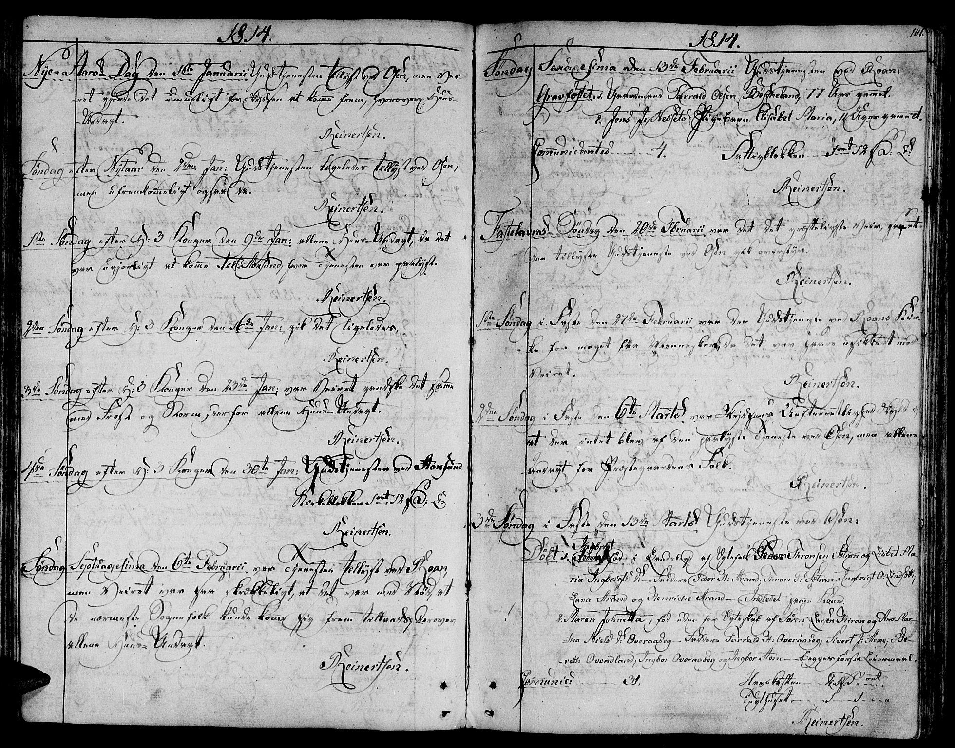 SAT, Ministerialprotokoller, klokkerbøker og fødselsregistre - Sør-Trøndelag, 657/L0701: Ministerialbok nr. 657A02, 1802-1831, s. 101