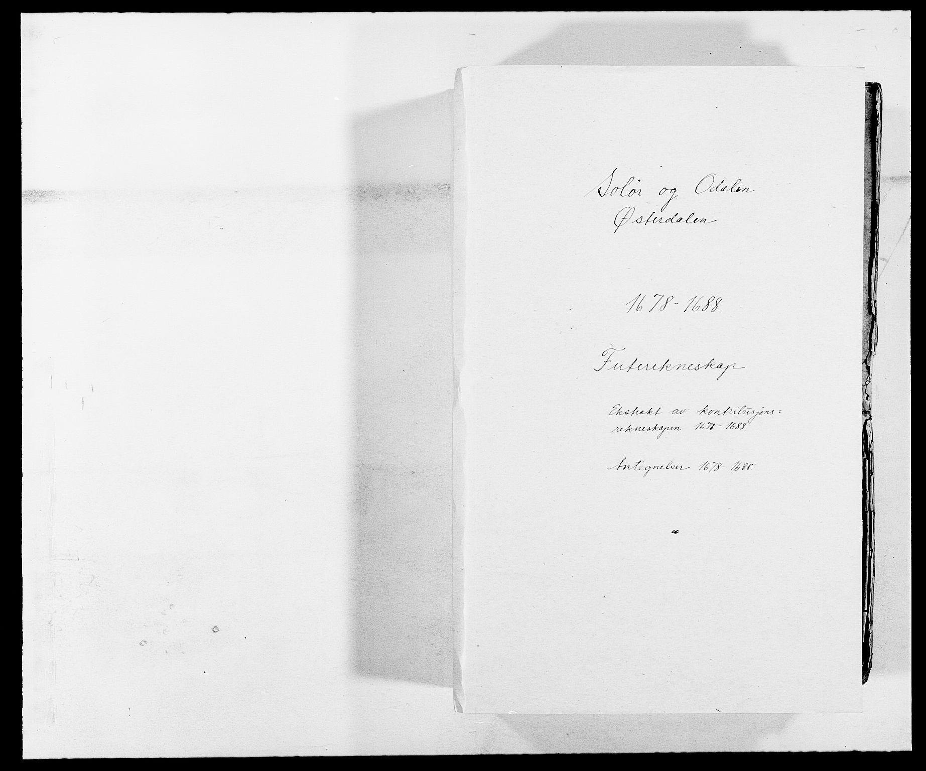 RA, Rentekammeret inntil 1814, Reviderte regnskaper, Fogderegnskap, R13/L0826: Fogderegnskap Solør, Odal og Østerdal, 1688, s. 1