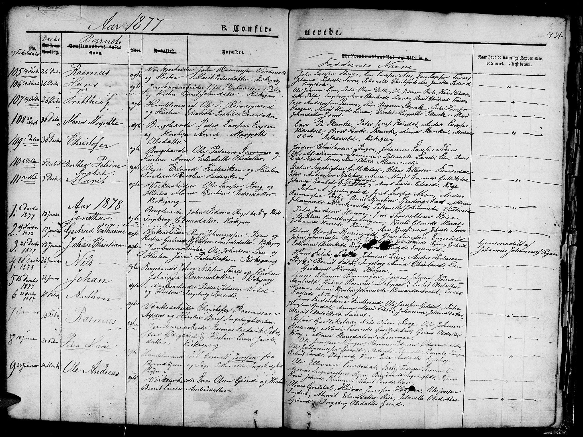 SAT, Ministerialprotokoller, klokkerbøker og fødselsregistre - Sør-Trøndelag, 681/L0938: Klokkerbok nr. 681C02, 1829-1879, s. 431