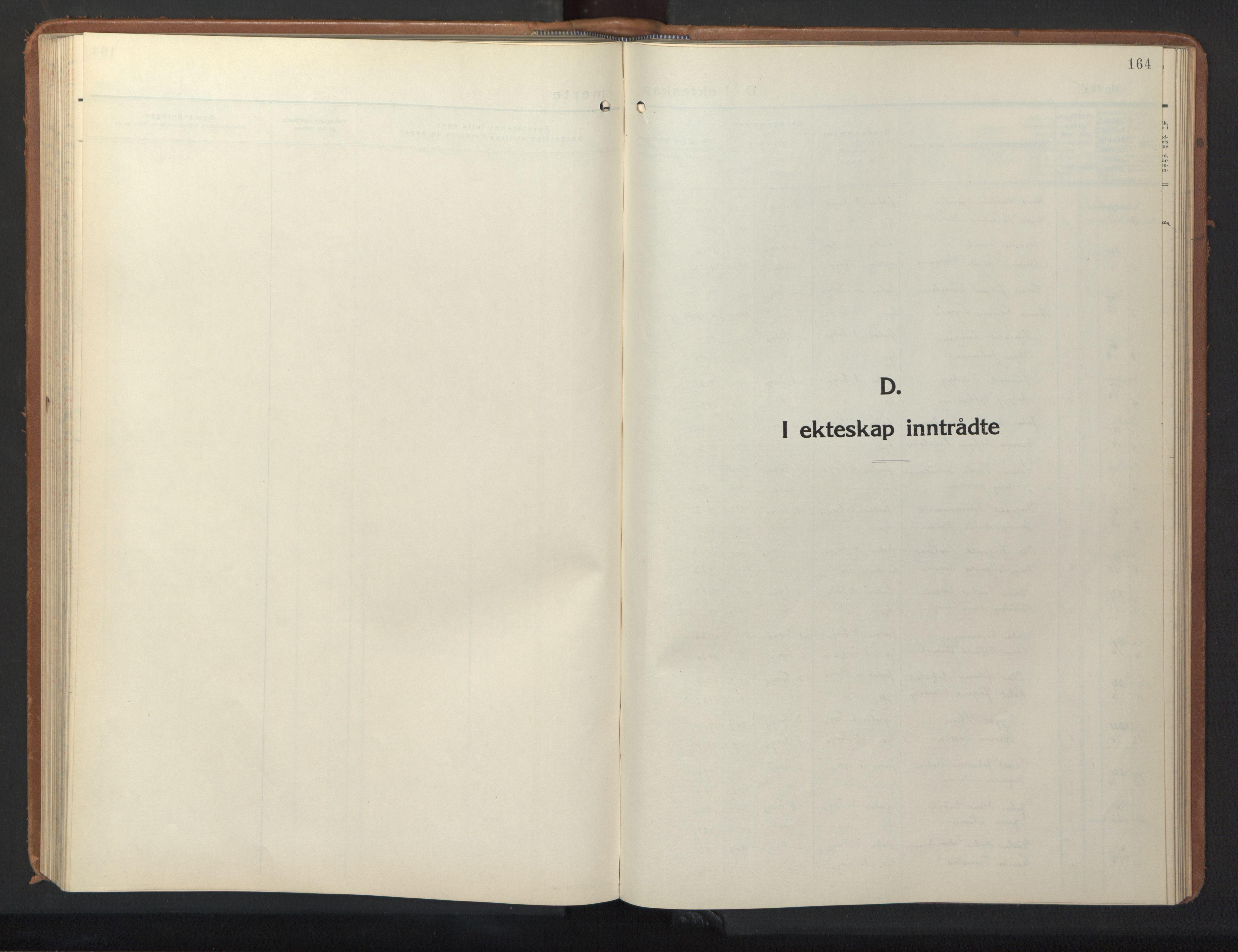 SAT, Ministerialprotokoller, klokkerbøker og fødselsregistre - Sør-Trøndelag, 640/L0590: Klokkerbok nr. 640C07, 1935-1948, s. 164