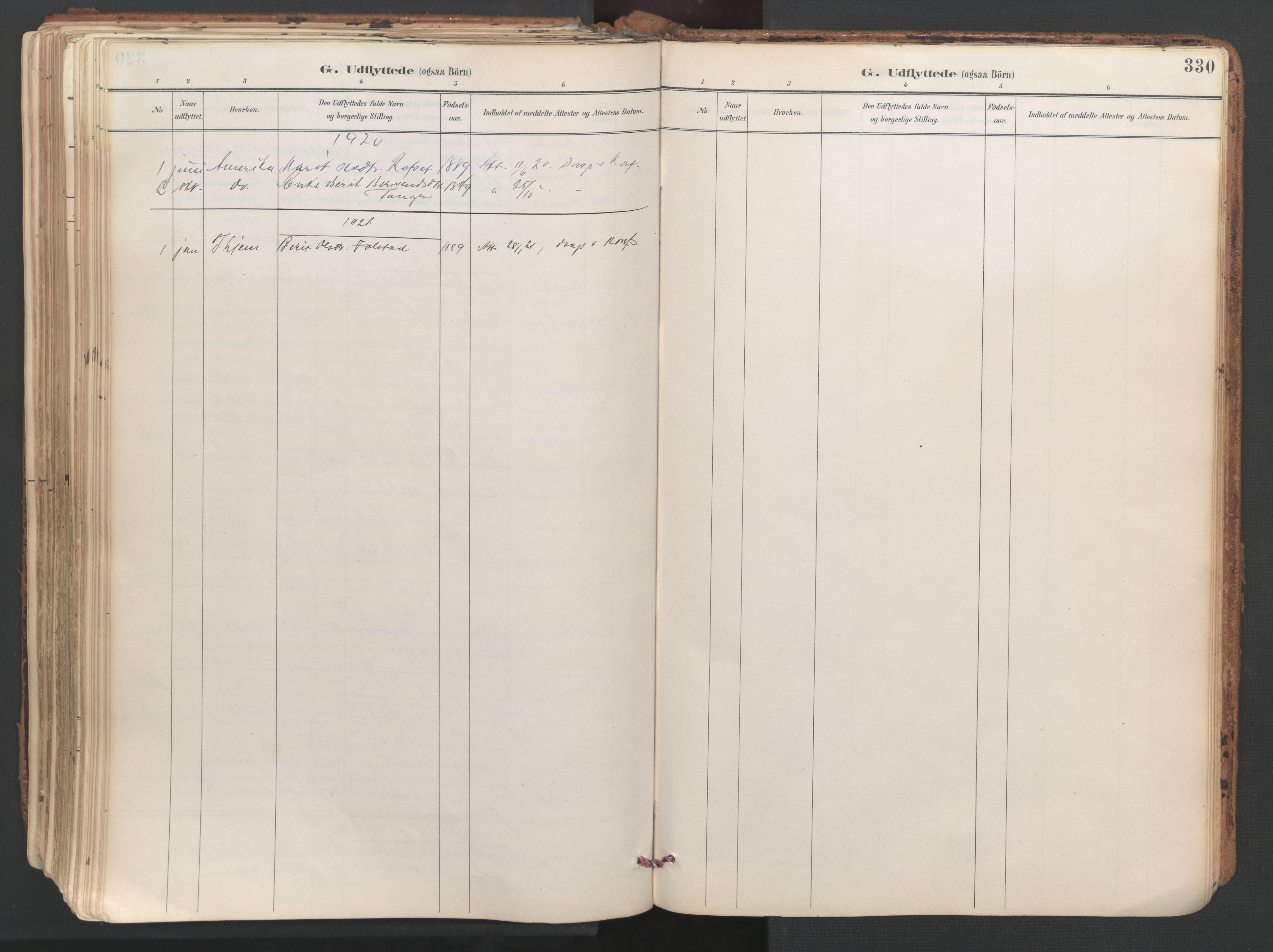 SAT, Ministerialprotokoller, klokkerbøker og fødselsregistre - Sør-Trøndelag, 687/L1004: Ministerialbok nr. 687A10, 1891-1923, s. 330