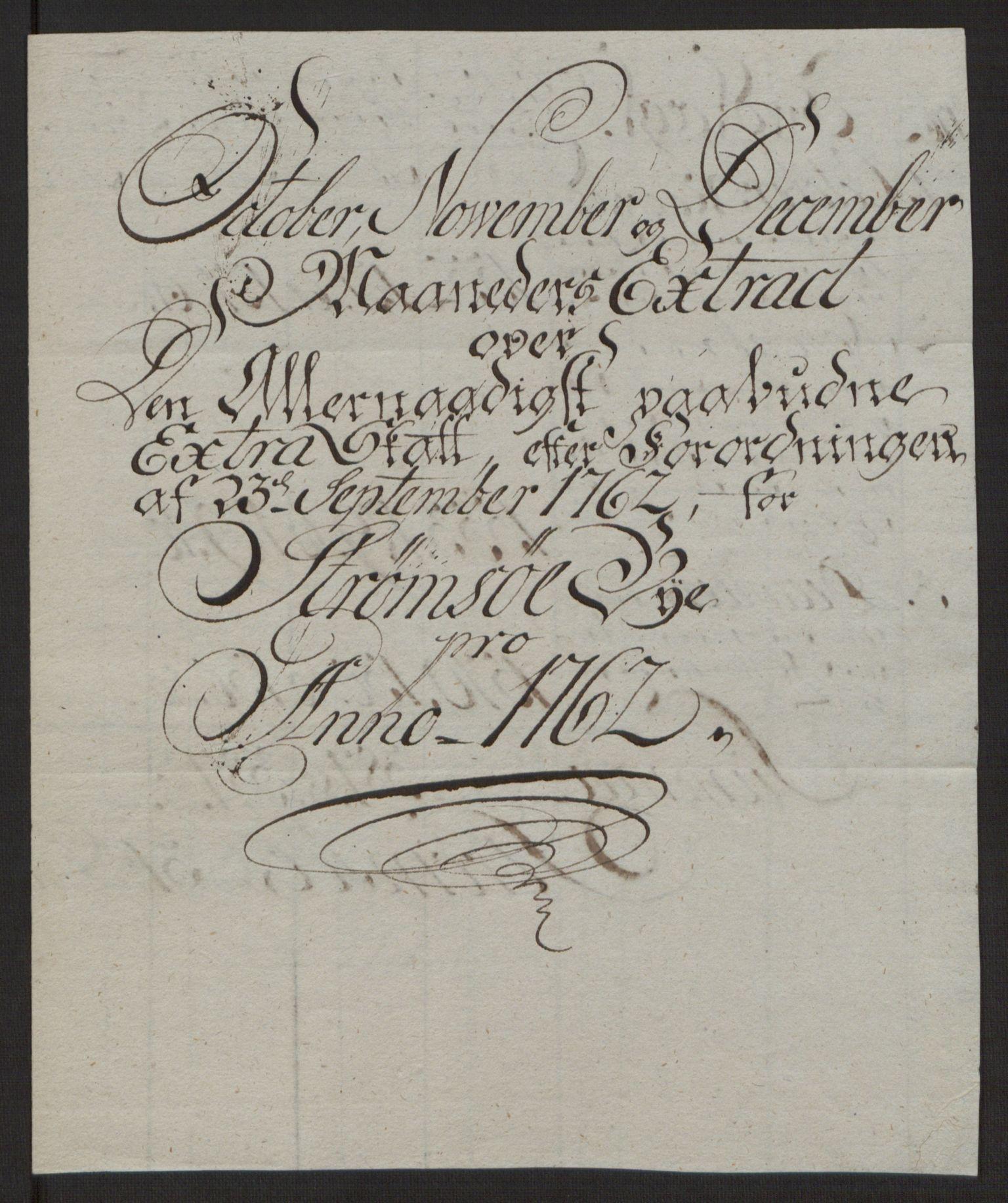 RA, Rentekammeret inntil 1814, Reviderte regnskaper, Byregnskaper, R/Rg/L0144: [G4] Kontribusjonsregnskap, 1762-1767, s. 65