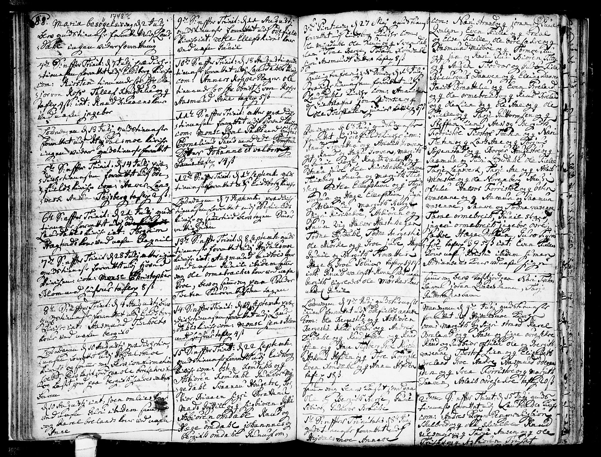 SAKO, Lårdal kirkebøker, F/Fa/L0002: Ministerialbok nr. I 2, 1734-1754, s. 88-89