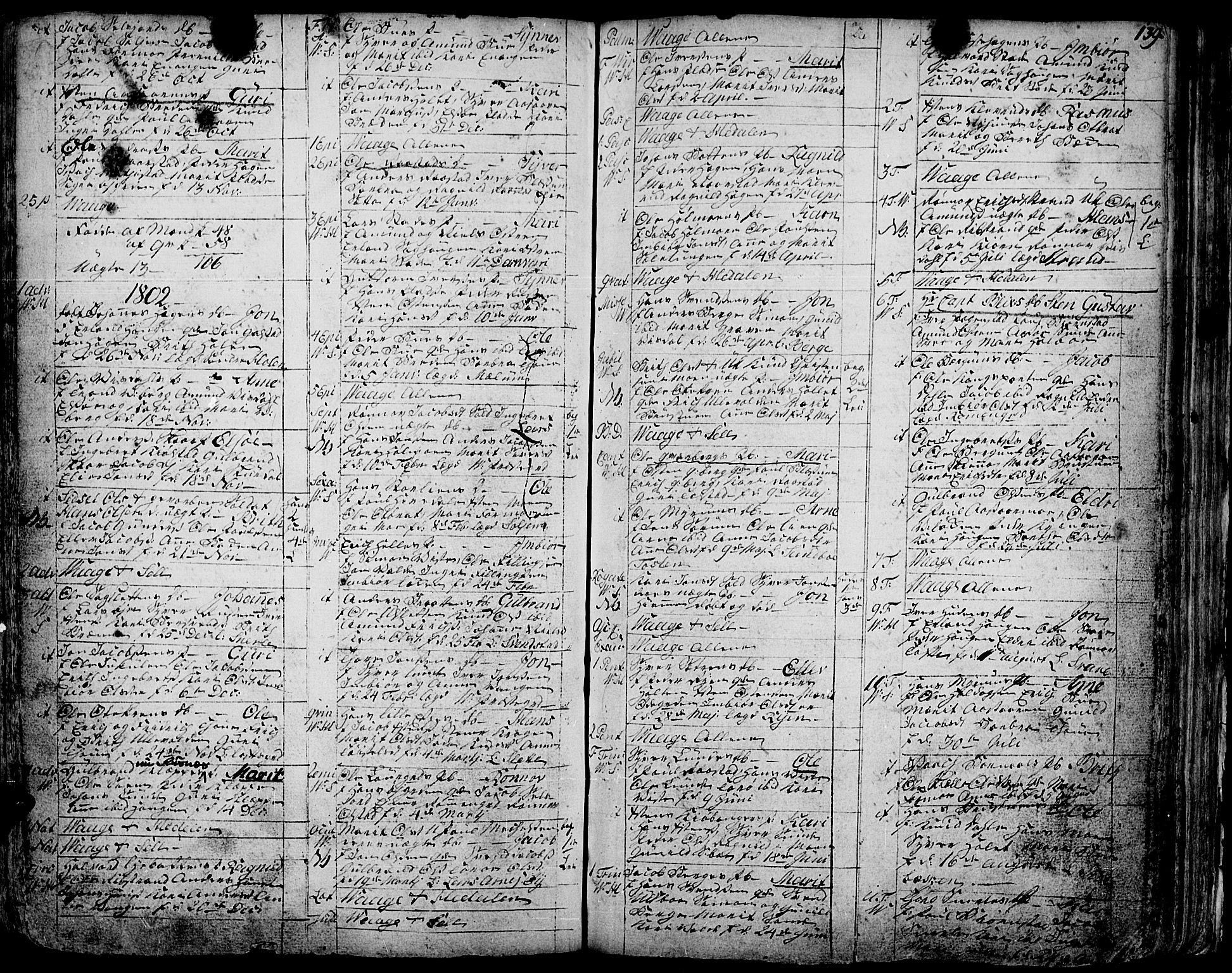SAH, Vågå prestekontor, Ministerialbok nr. 1, 1739-1810, s. 139