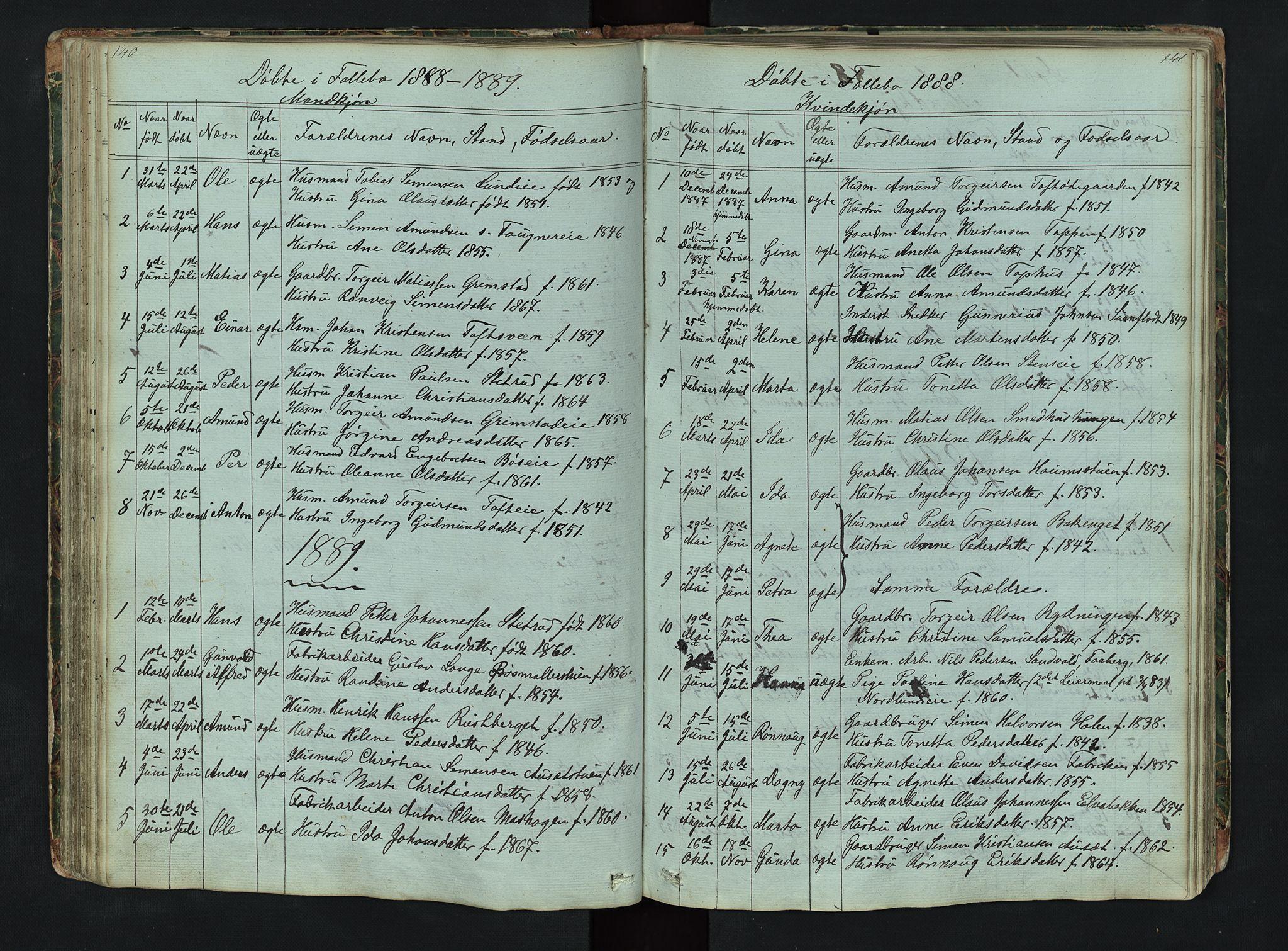SAH, Gausdal prestekontor, Klokkerbok nr. 6, 1846-1893, s. 140-141