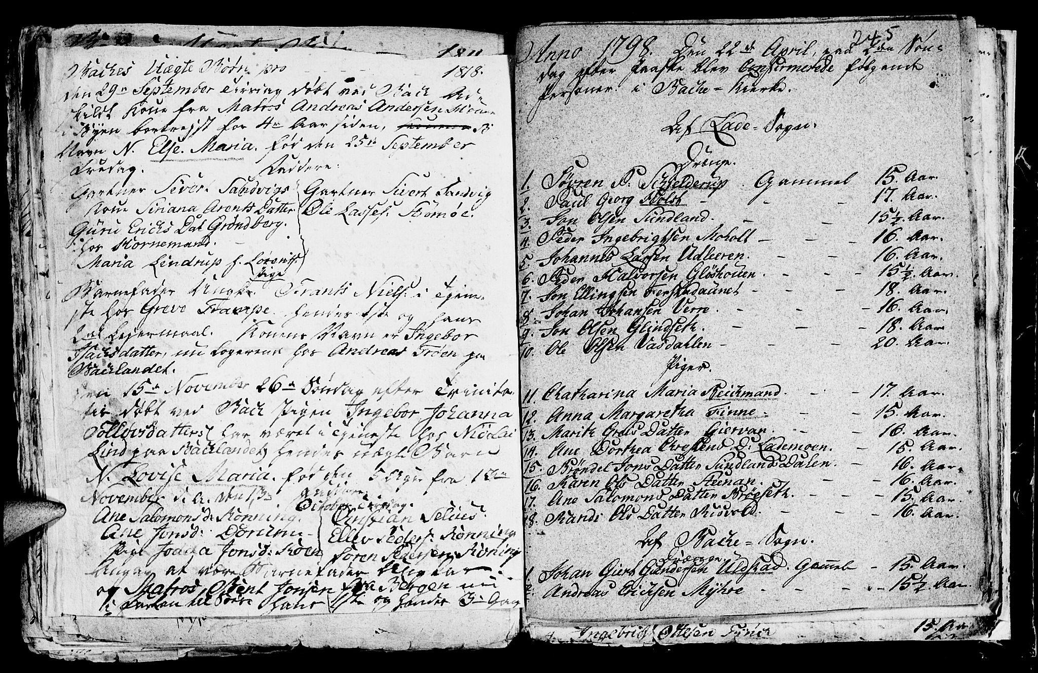 SAT, Ministerialprotokoller, klokkerbøker og fødselsregistre - Sør-Trøndelag, 604/L0218: Klokkerbok nr. 604C01, 1754-1819, s. 245