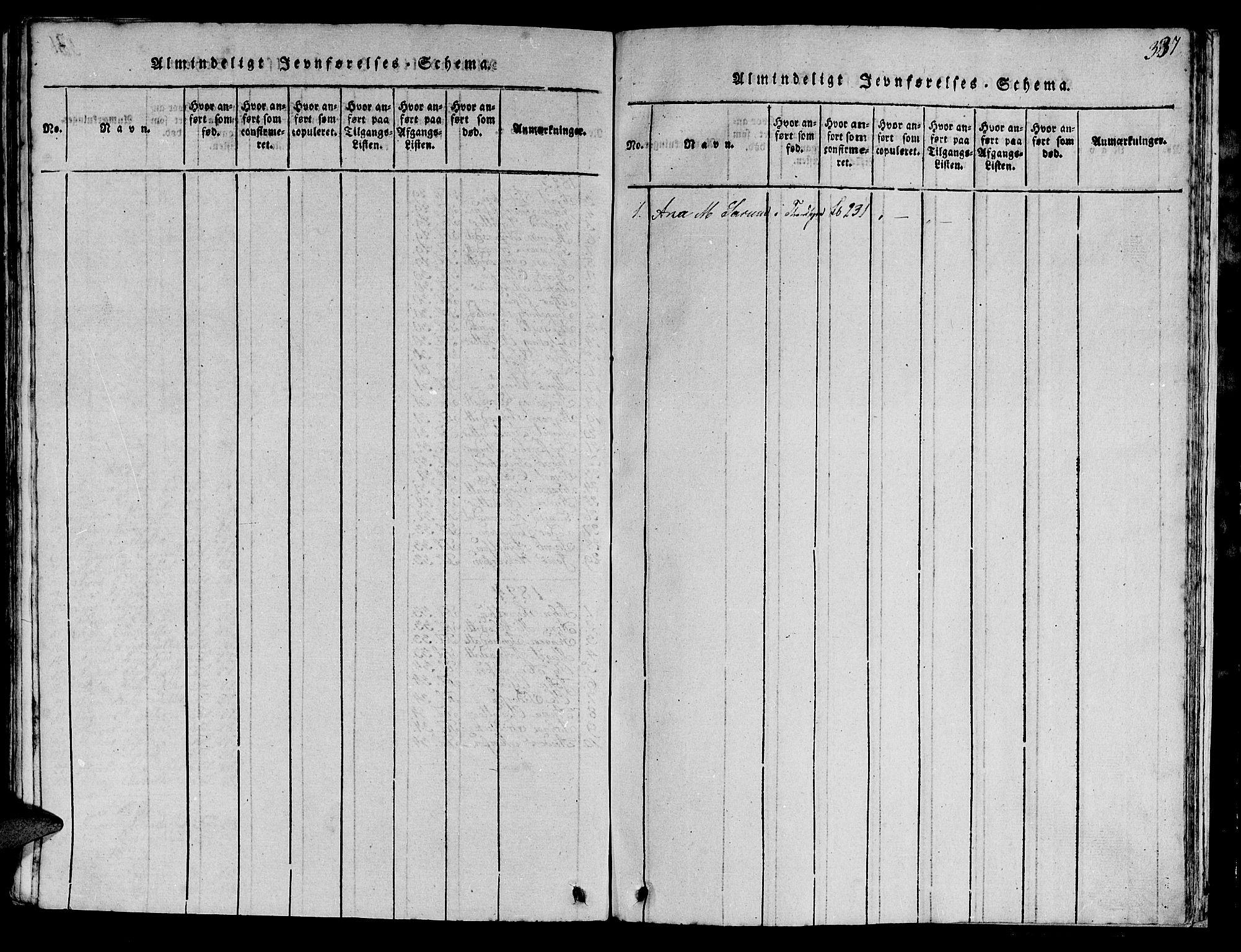 SAT, Ministerialprotokoller, klokkerbøker og fødselsregistre - Sør-Trøndelag, 613/L0393: Klokkerbok nr. 613C01, 1816-1886, s. 387