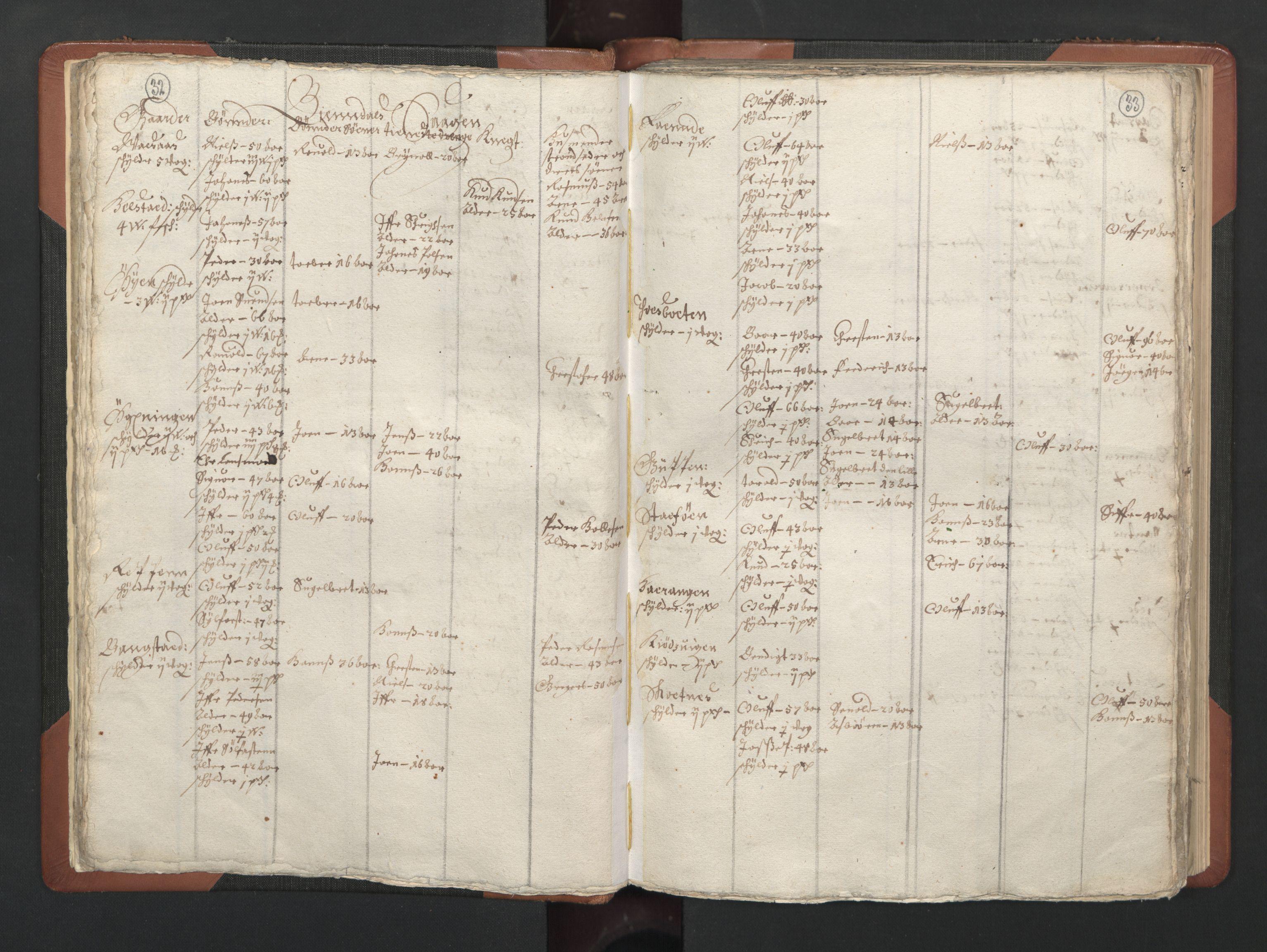 RA, Fogdenes og sorenskrivernes manntall 1664-1666, nr. 20: Fogderier (len og skipreider) i nåværende Nordland fylke, Troms fylke og Finnmark fylke, 1665, s. 32-33
