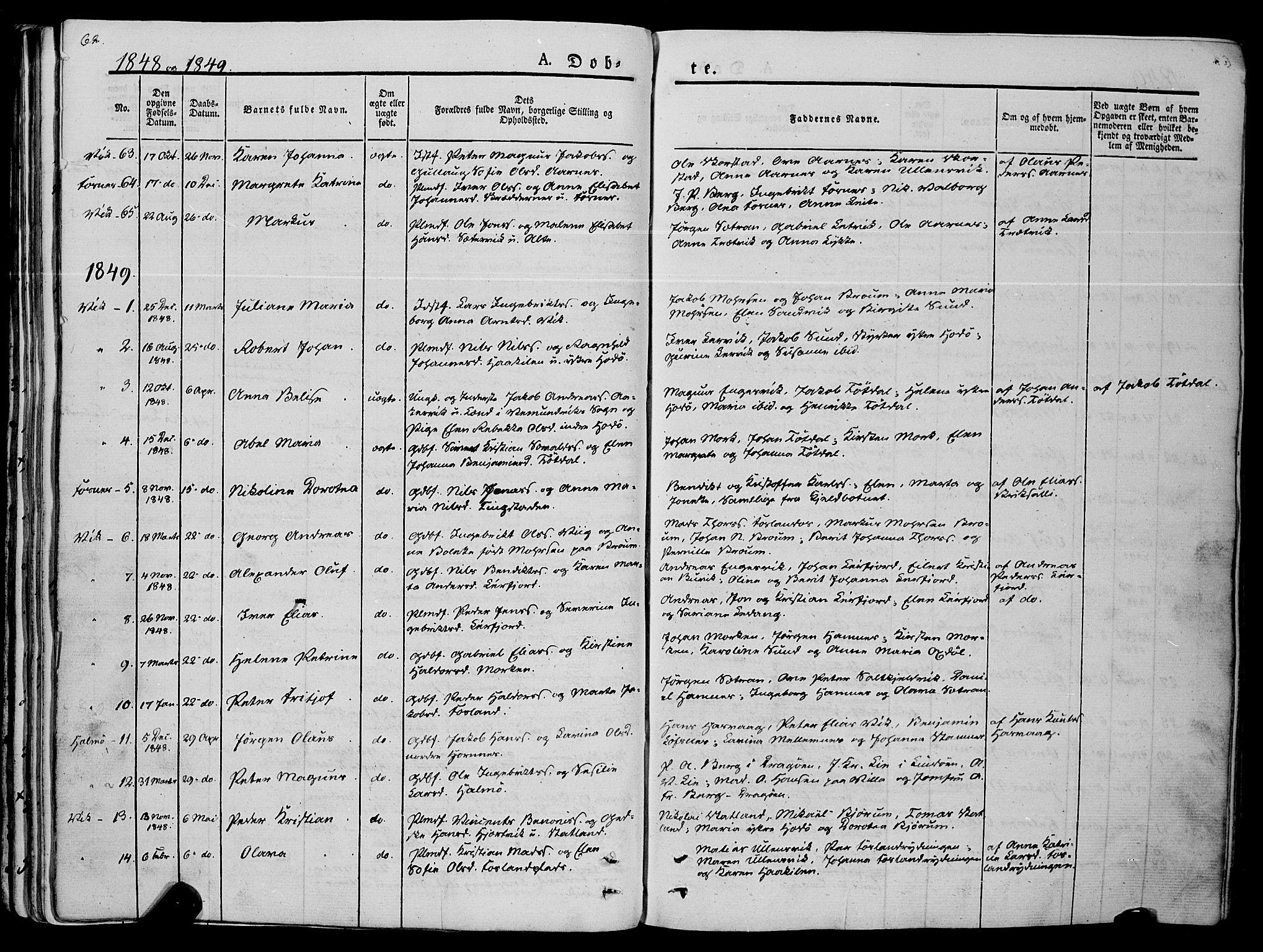 SAT, Ministerialprotokoller, klokkerbøker og fødselsregistre - Nord-Trøndelag, 773/L0614: Ministerialbok nr. 773A05, 1831-1856, s. 62