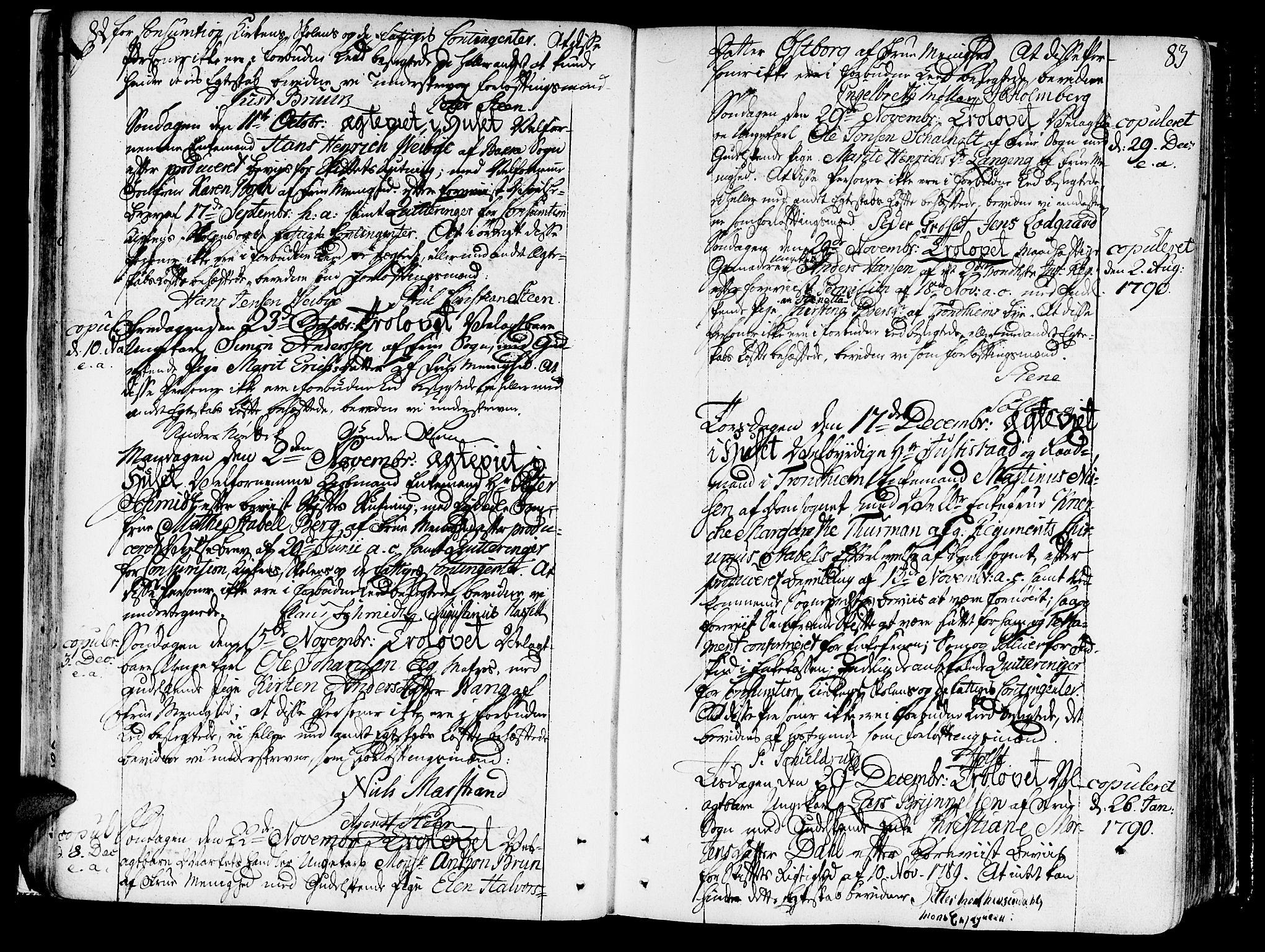 SAT, Ministerialprotokoller, klokkerbøker og fødselsregistre - Sør-Trøndelag, 602/L0105: Ministerialbok nr. 602A03, 1774-1814, s. 82-83