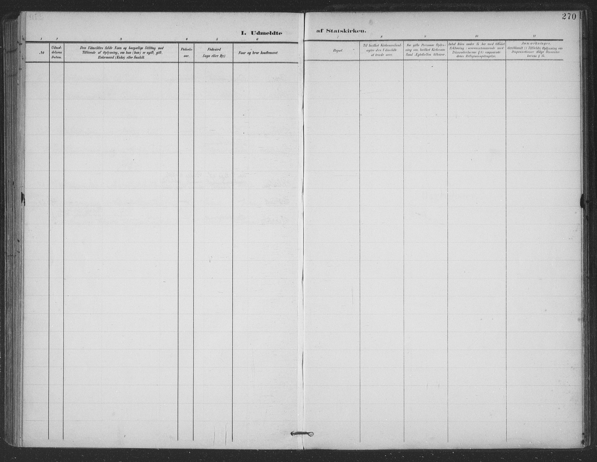 SAT, Ministerialprotokoller, klokkerbøker og fødselsregistre - Nordland, 863/L0899: Ministerialbok nr. 863A11, 1897-1906, s. 270