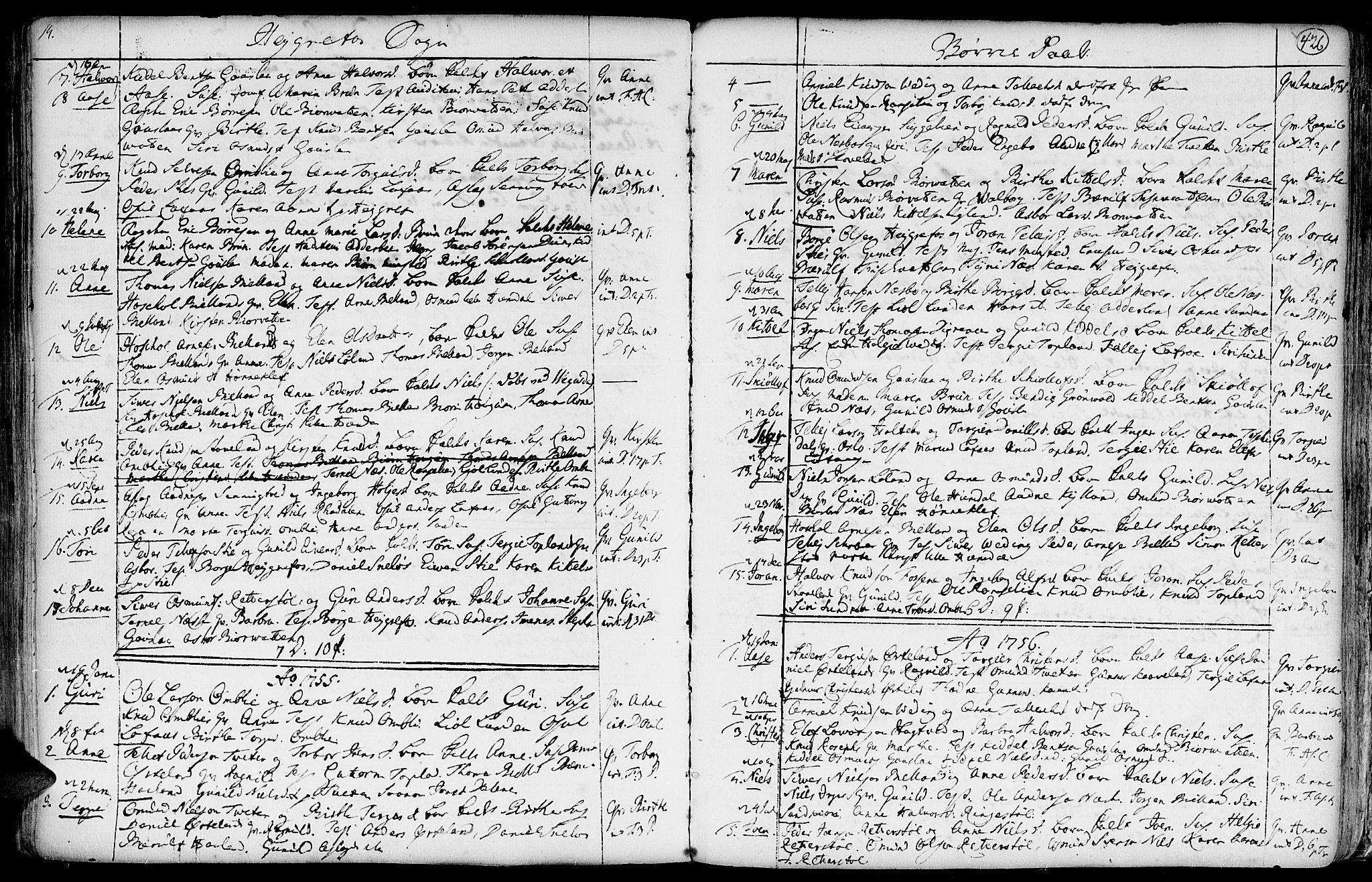 SAK, Hommedal sokneprestkontor, F/Fa/Fab/L0002: Ministerialbok nr. A 2 /3, 1740-1821, s. 426