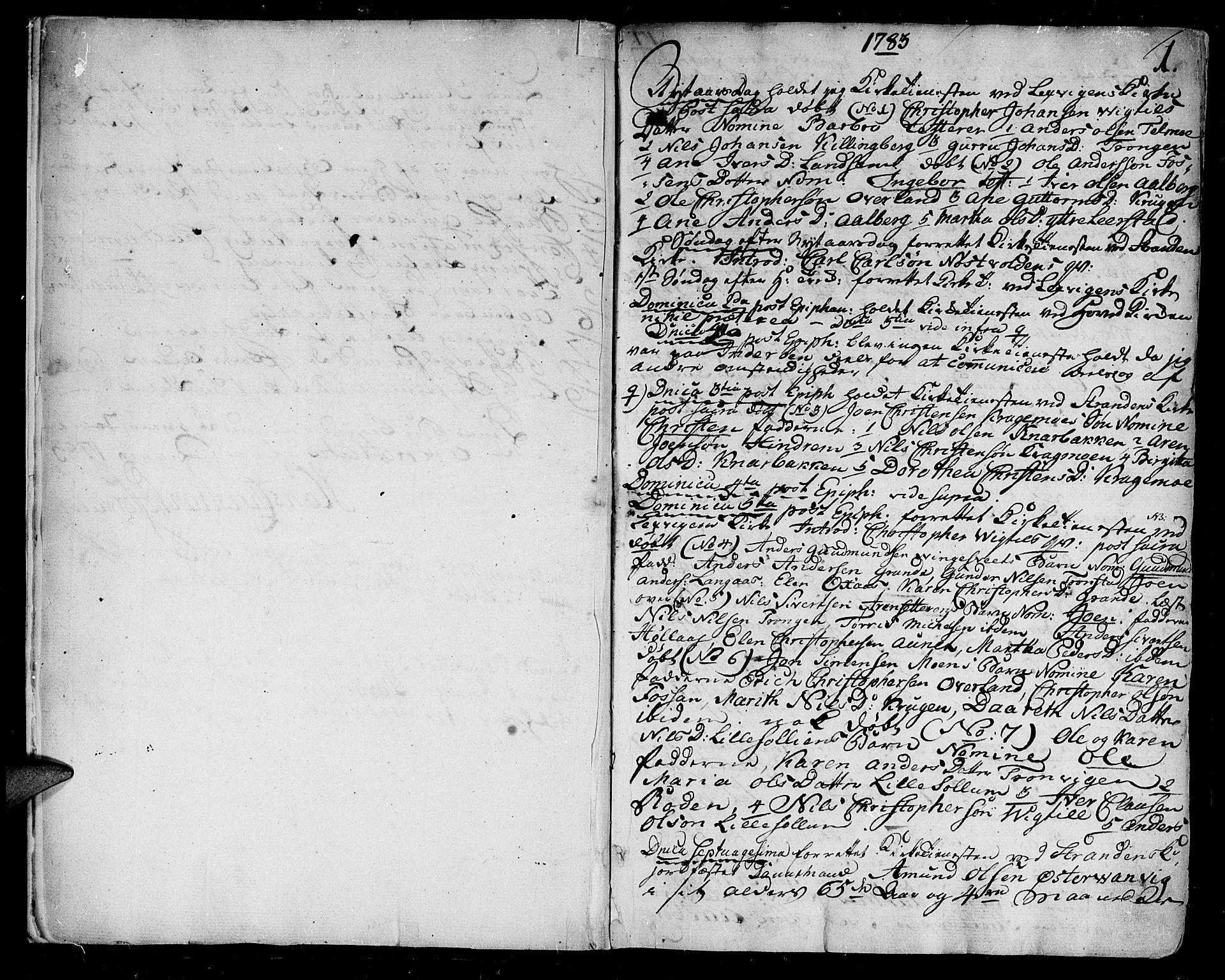 SAT, Ministerialprotokoller, klokkerbøker og fødselsregistre - Nord-Trøndelag, 701/L0004: Ministerialbok nr. 701A04, 1783-1816, s. 1