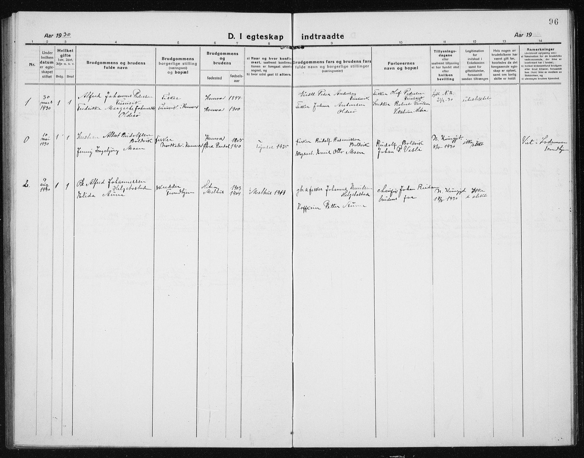 SAT, Ministerialprotokoller, klokkerbøker og fødselsregistre - Sør-Trøndelag, 635/L0554: Klokkerbok nr. 635C02, 1919-1942, s. 96