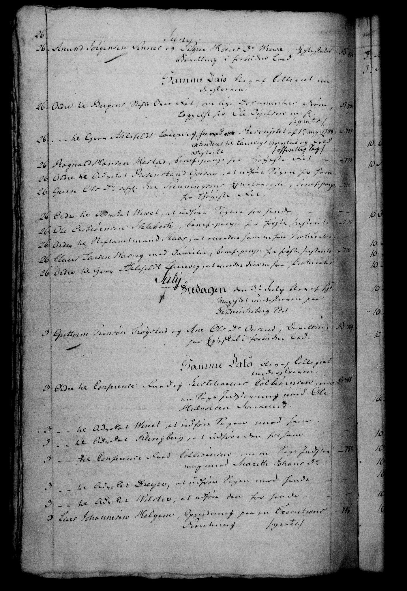 RA, Danske Kanselli 1800-1814, H/Hf/Hfb/Hfbc/L0002: Underskrivelsesbok m. register, 1801, s. 26