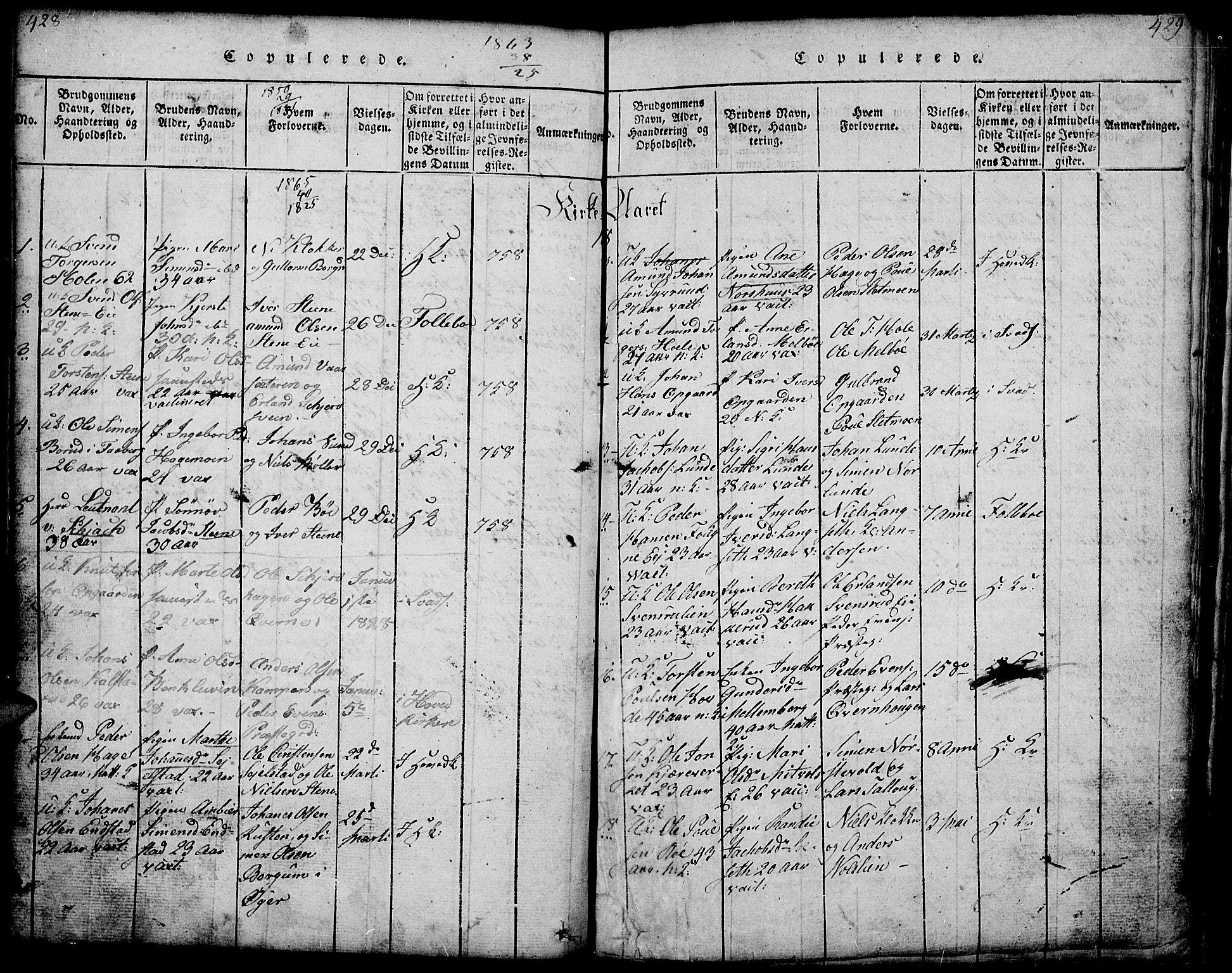 SAH, Gausdal prestekontor, Klokkerbok nr. 1, 1817-1848, s. 428-429