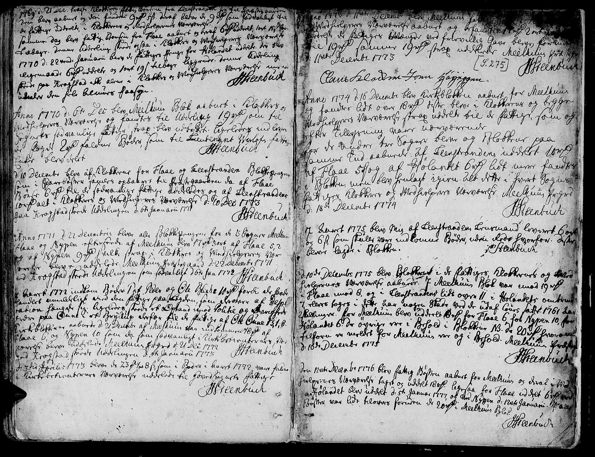 SAT, Ministerialprotokoller, klokkerbøker og fødselsregistre - Sør-Trøndelag, 691/L1061: Ministerialbok nr. 691A02 /1, 1768-1815, s. 275