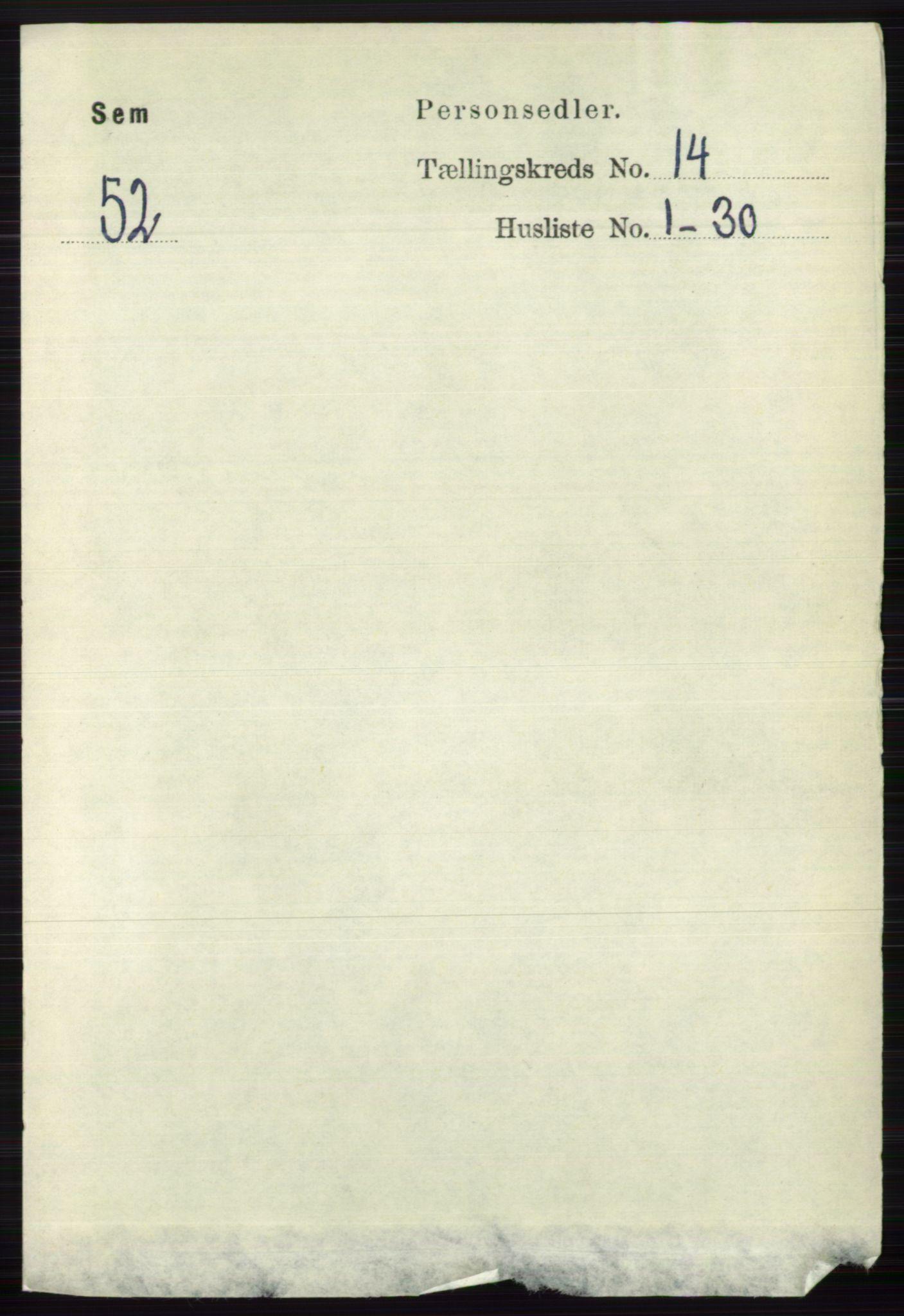 RA, Folketelling 1891 for 0721 Sem herred, 1891, s. 7022