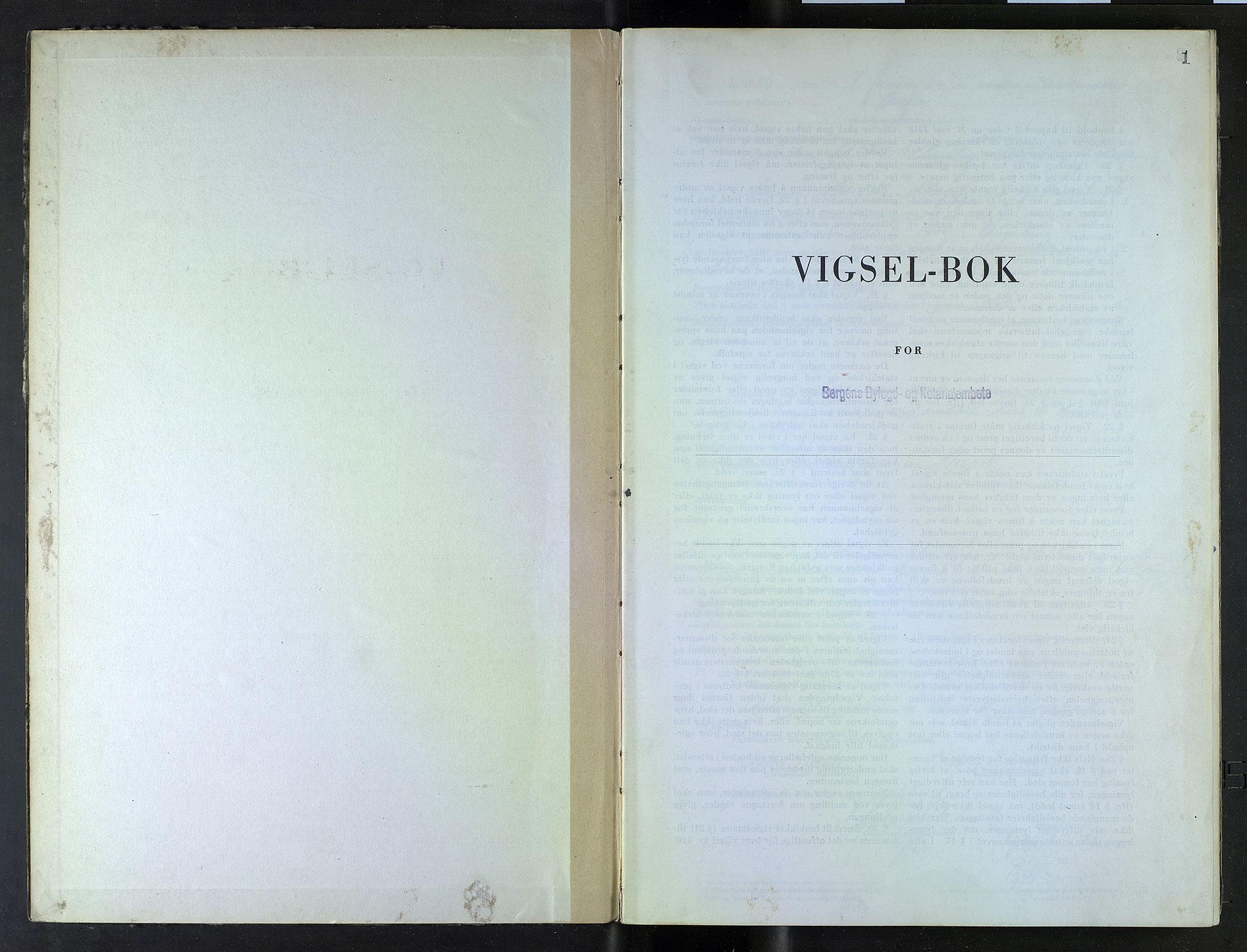 SAB, Bergen byfogd og byskriver*, 1946, s. 1