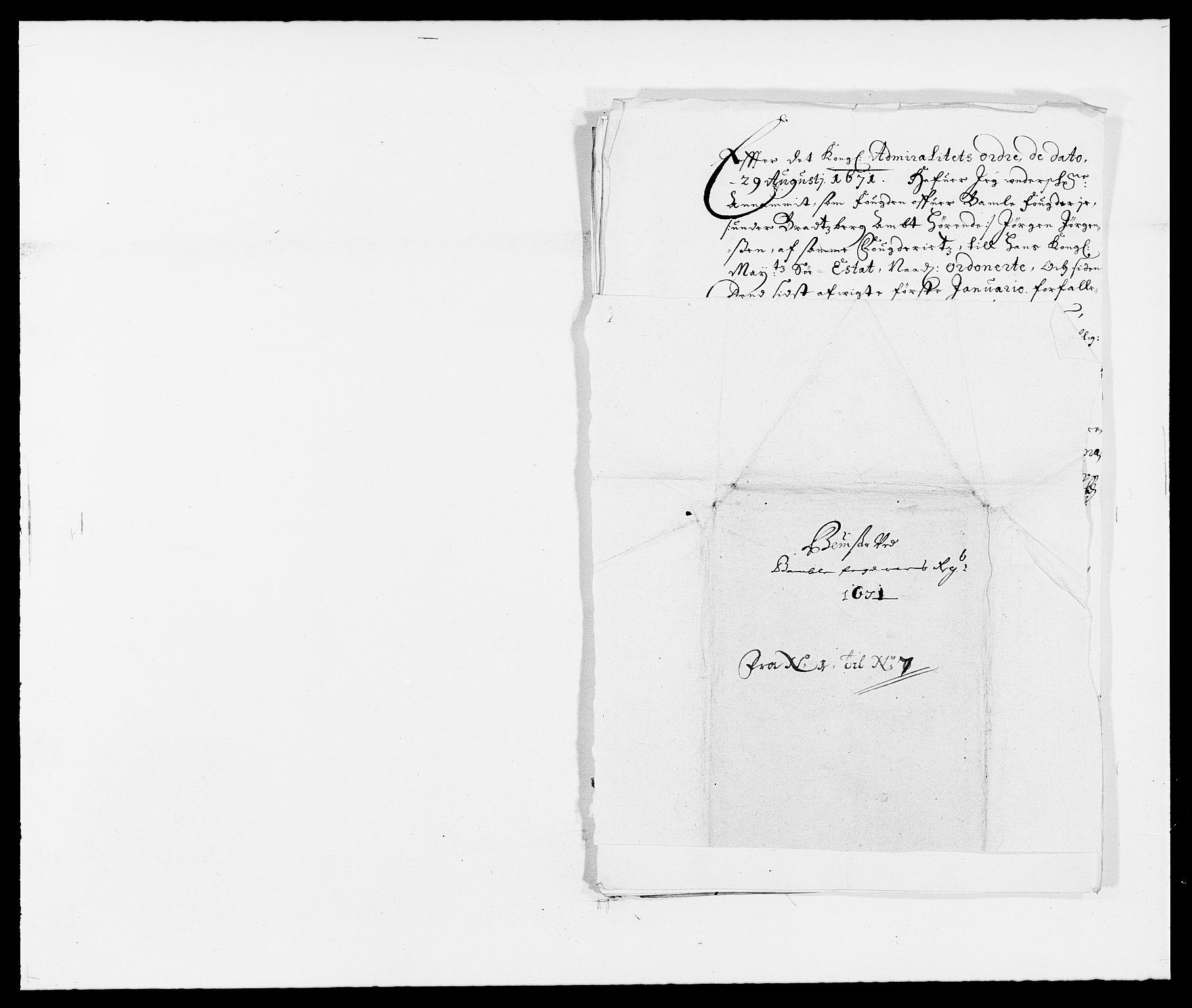 RA, Rentekammeret inntil 1814, Reviderte regnskaper, Fogderegnskap, R34/L2041: Fogderegnskap Bamble, 1670-1672, s. 246