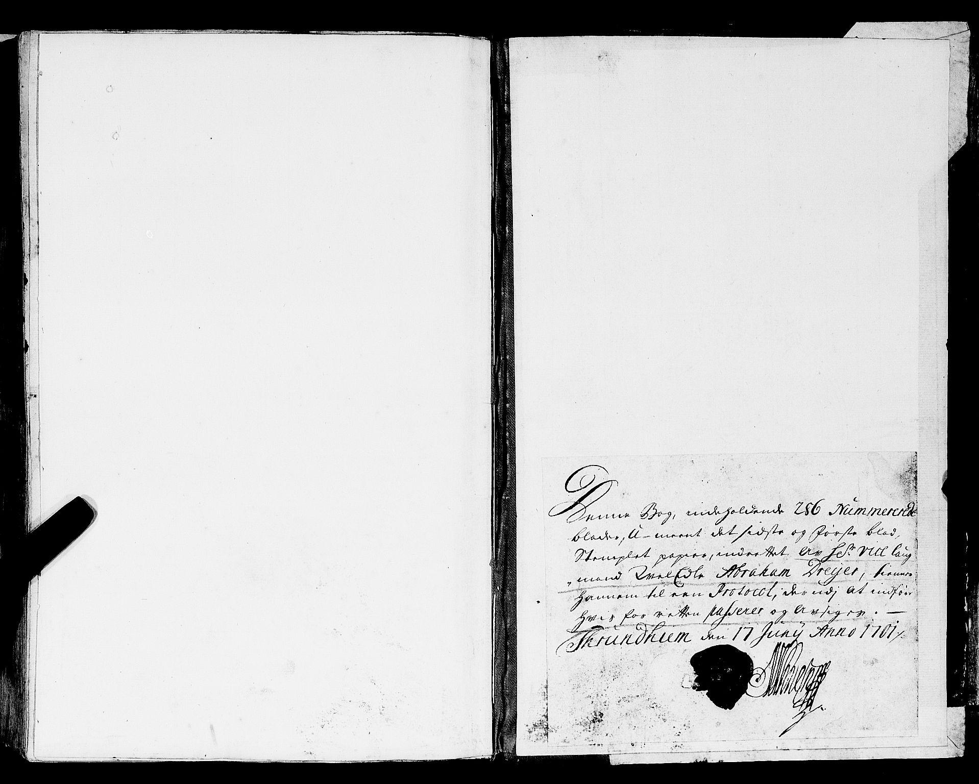 SAT, Trondheim lagting, 1701-1709
