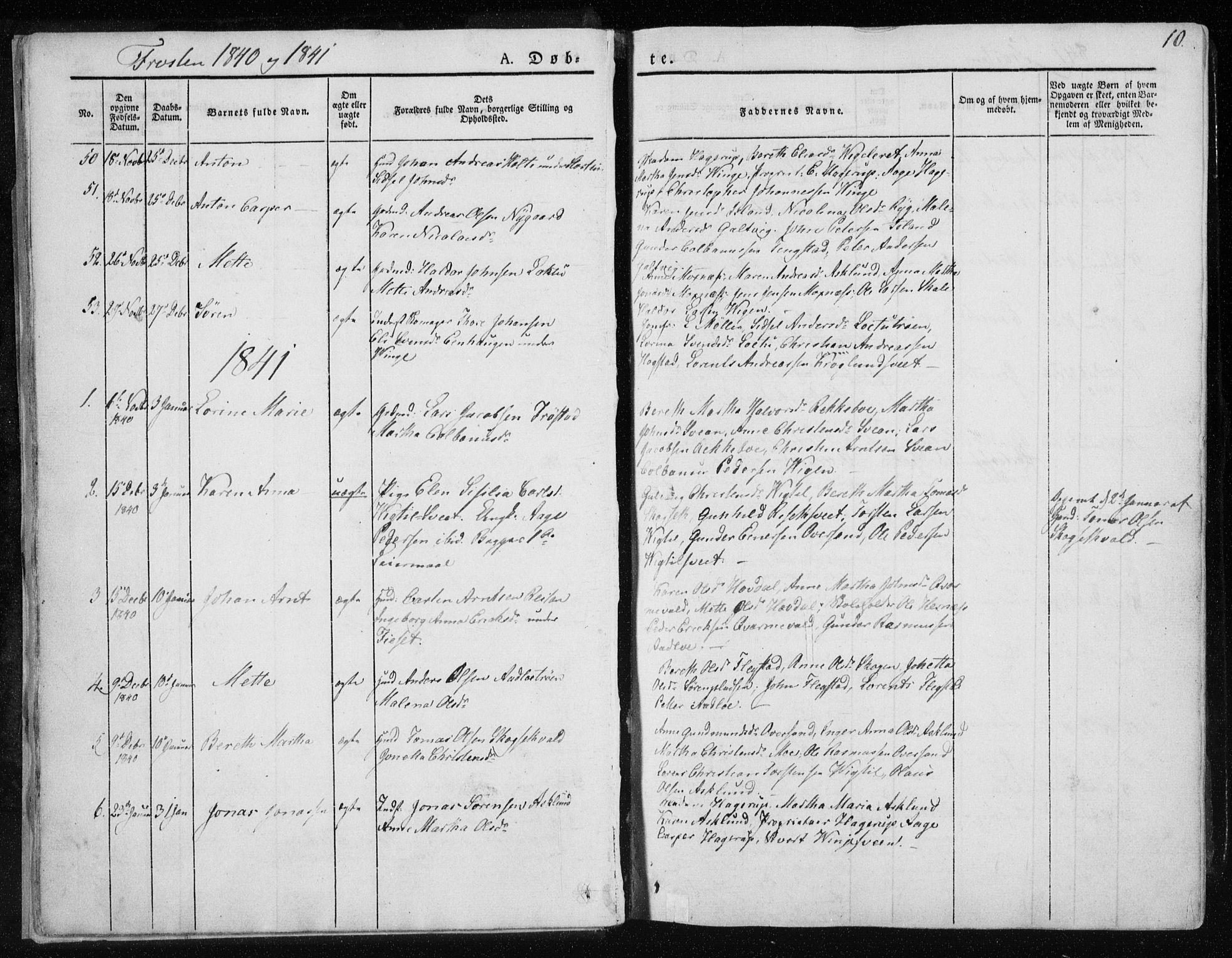 SAT, Ministerialprotokoller, klokkerbøker og fødselsregistre - Nord-Trøndelag, 713/L0115: Ministerialbok nr. 713A06, 1838-1851, s. 10