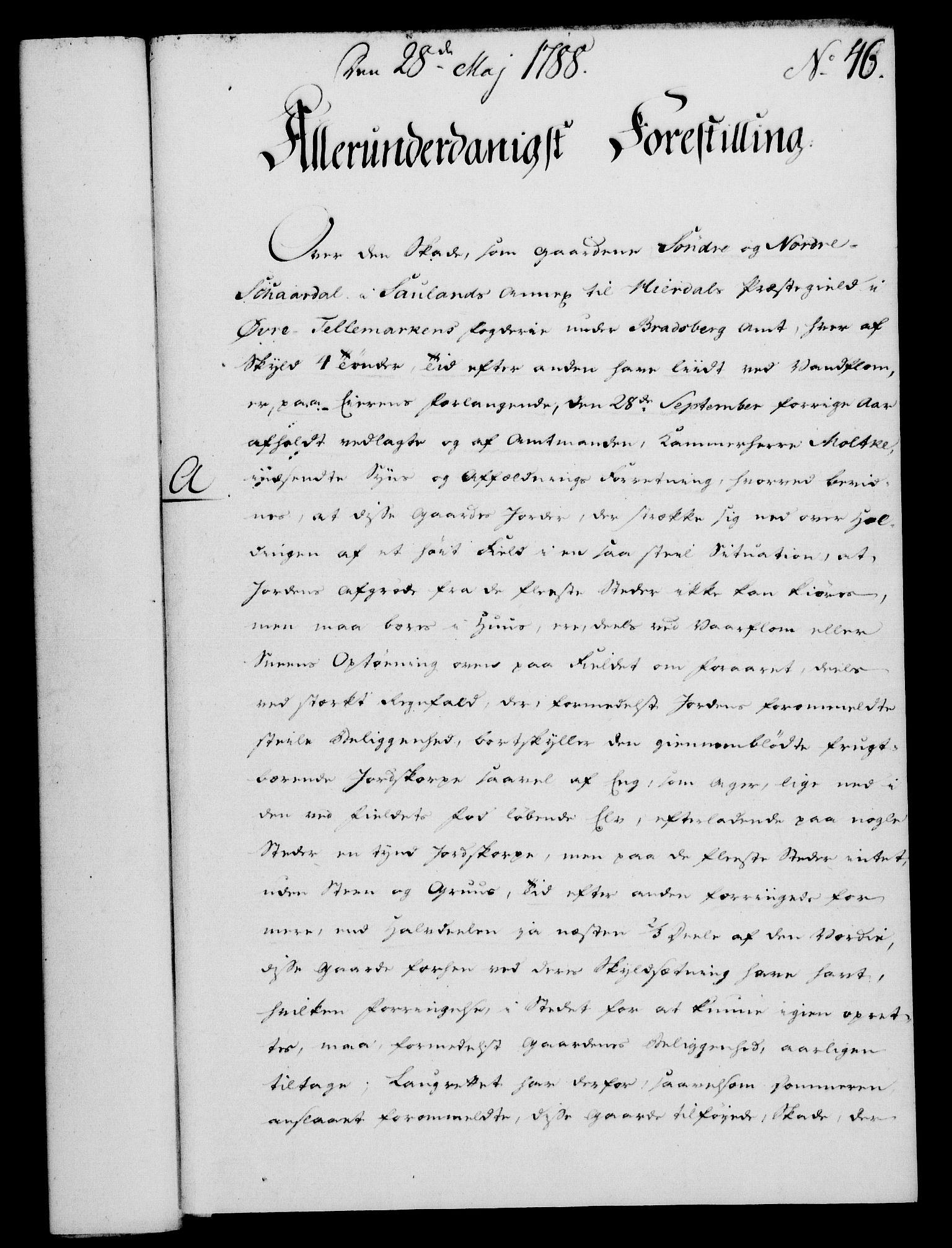 RA, Rentekammeret, Kammerkanselliet, G/Gf/Gfa/L0070: Norsk relasjons- og resolusjonsprotokoll (merket RK 52.70), 1788, s. 281