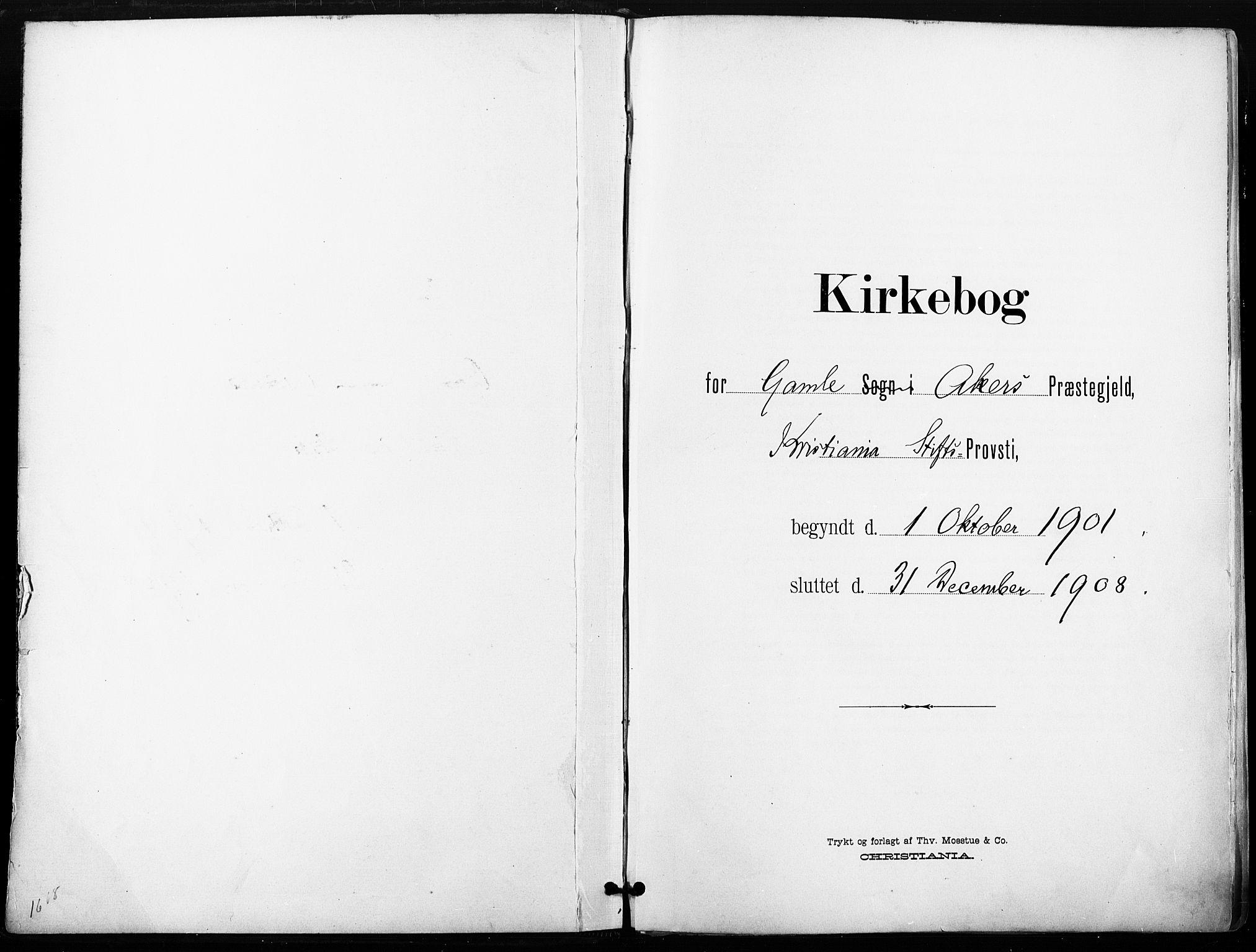 SAO, Gamle Aker prestekontor Kirkebøker, F/L0013: Ministerialbok nr. 13, 1901-1908