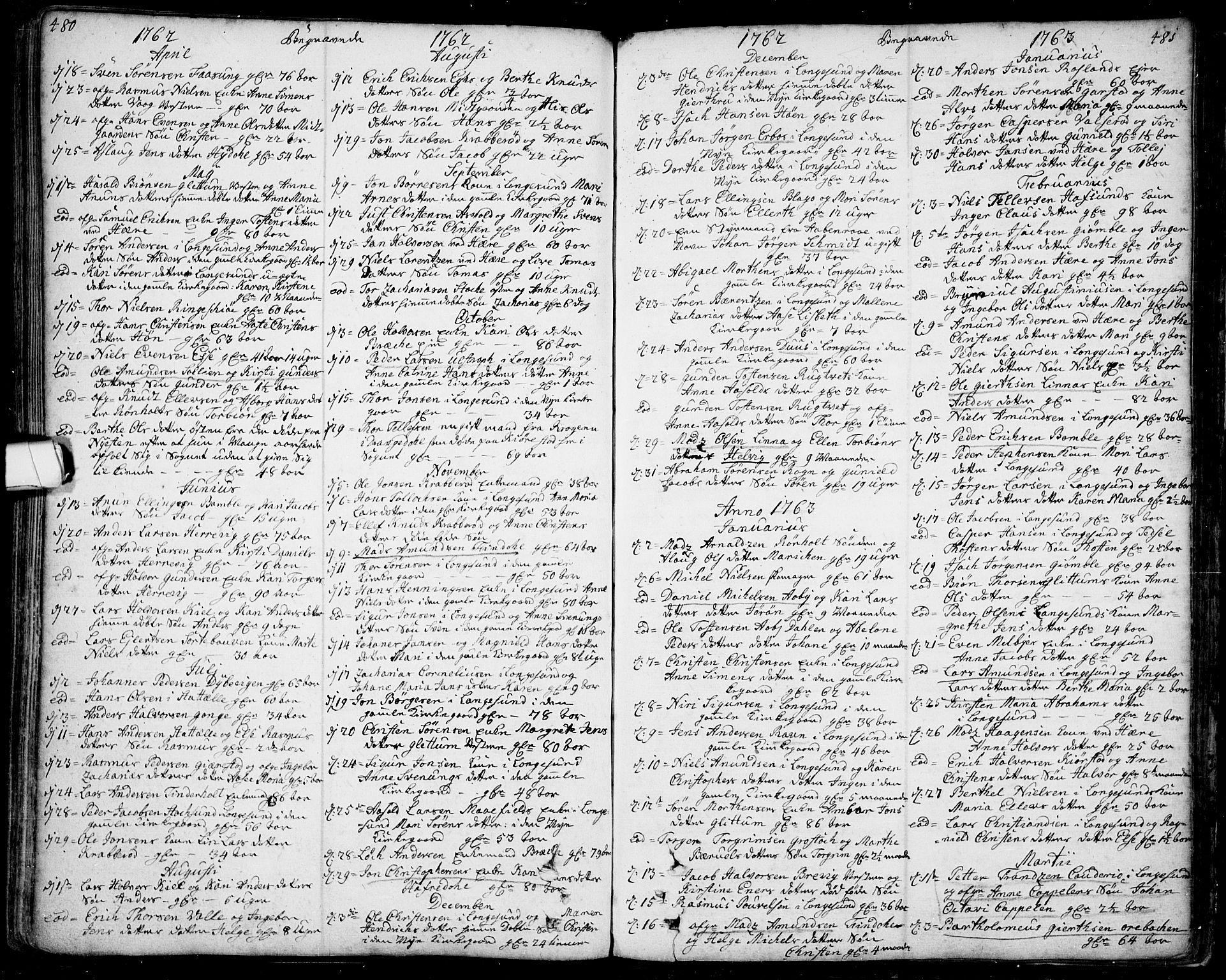 SAKO, Bamble kirkebøker, F/Fa/L0001: Ministerialbok nr. I 1, 1702-1774, s. 480-481