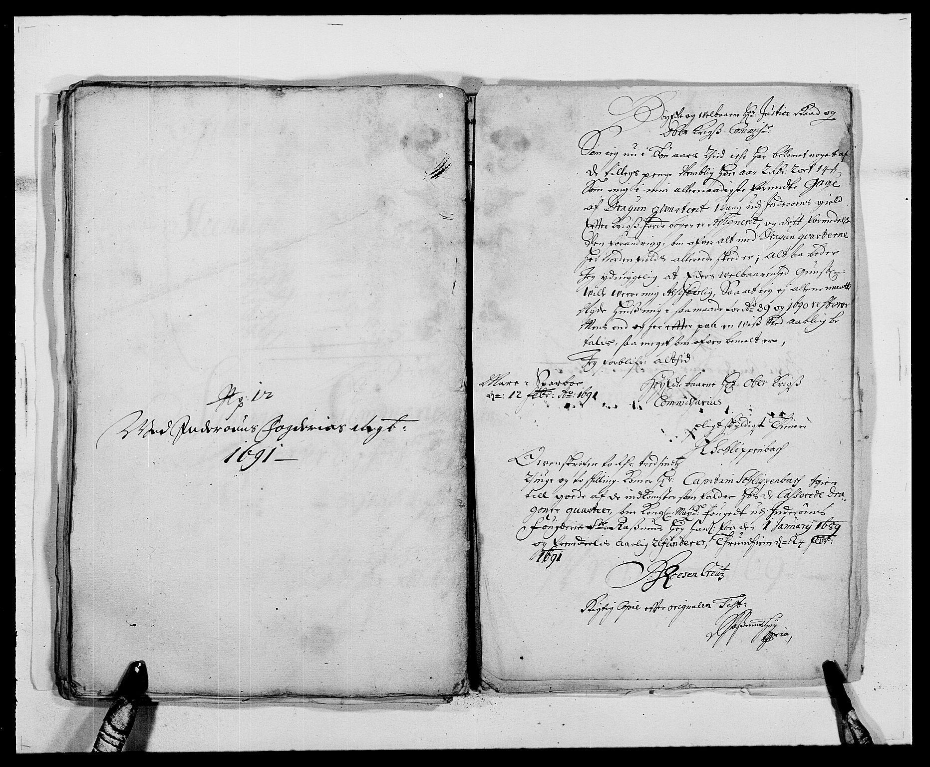 RA, Rentekammeret inntil 1814, Reviderte regnskaper, Fogderegnskap, R63/L4307: Fogderegnskap Inderøy, 1690-1691, s. 458