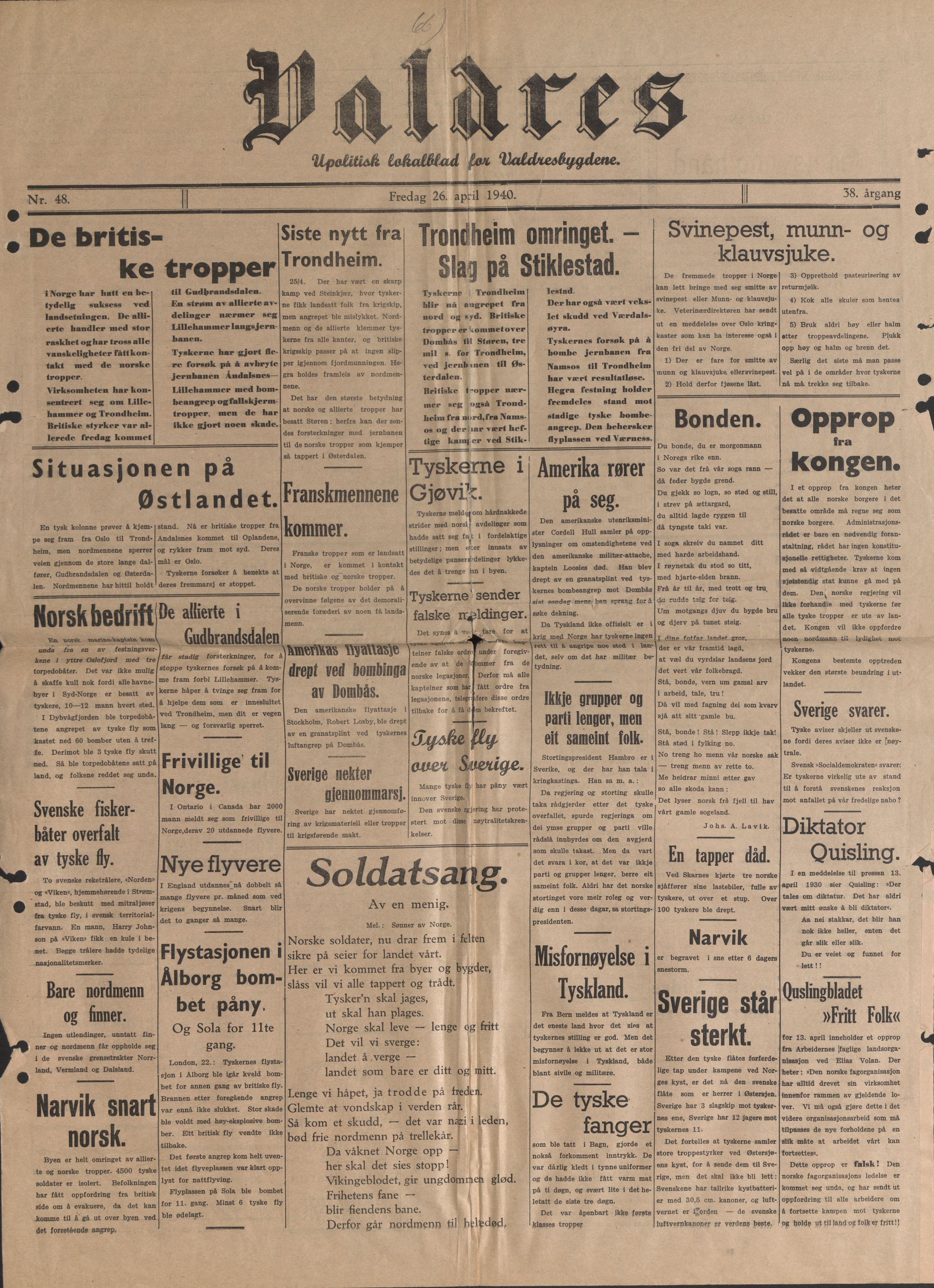 RA, Forsvaret, Forsvarets krigshistoriske avdeling, Y/Yb/L0104: II-C-11-430  -  4. Divisjon., 1940, s. 191