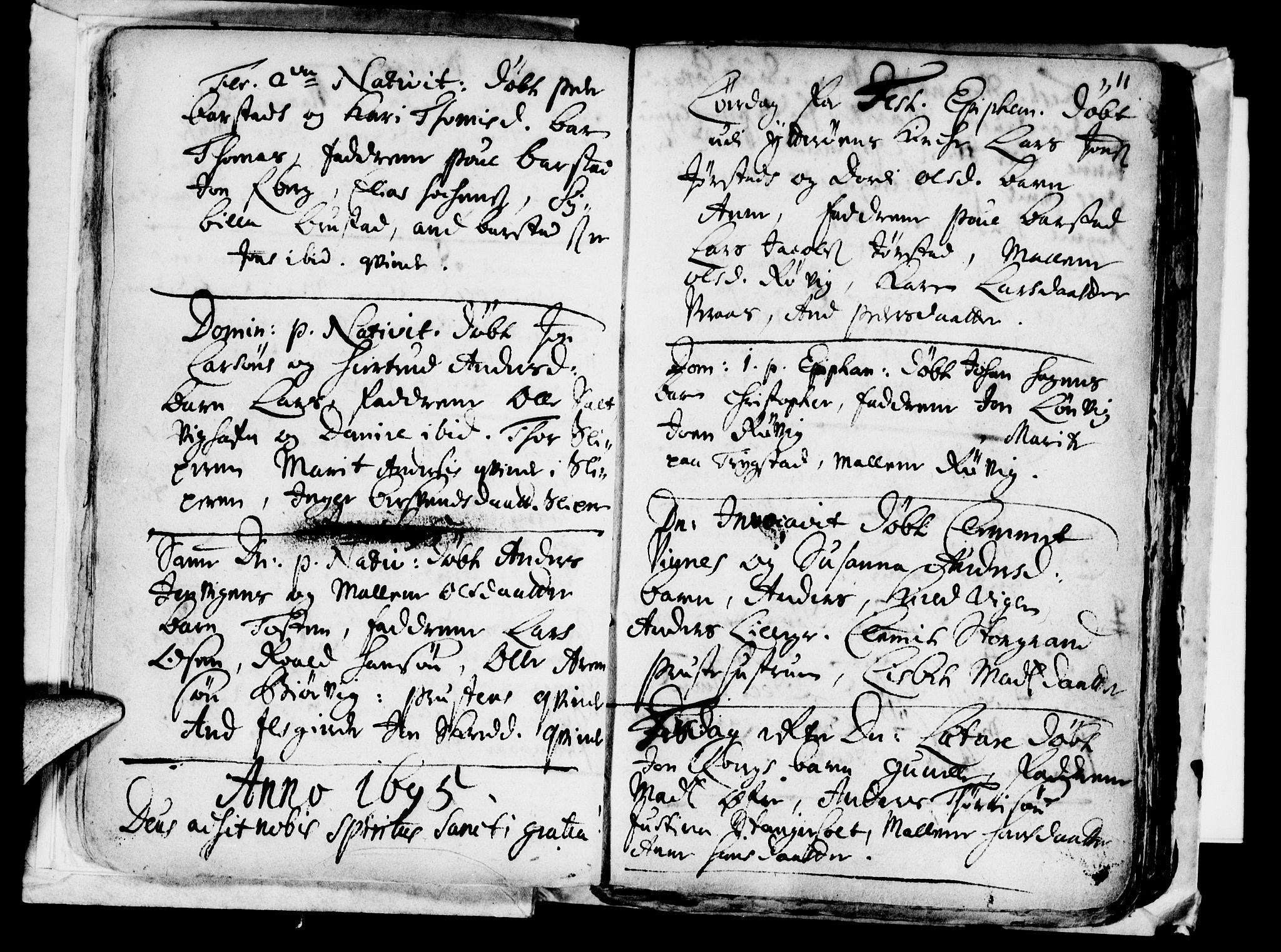 SAT, Ministerialprotokoller, klokkerbøker og fødselsregistre - Nord-Trøndelag, 722/L0214: Ministerialbok nr. 722A01, 1692-1718, s. 11