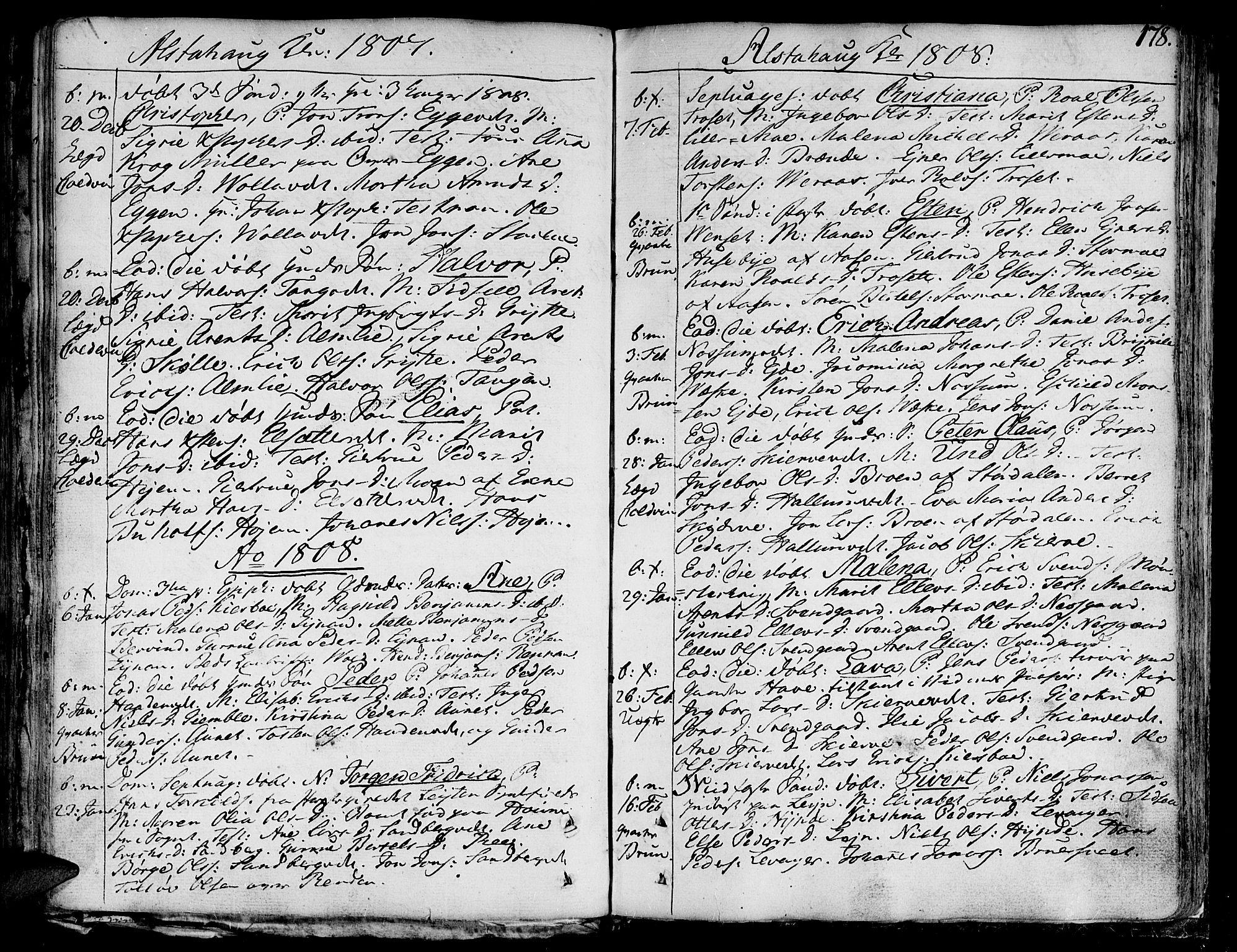 SAT, Ministerialprotokoller, klokkerbøker og fødselsregistre - Nord-Trøndelag, 717/L0142: Ministerialbok nr. 717A02 /1, 1783-1809, s. 178