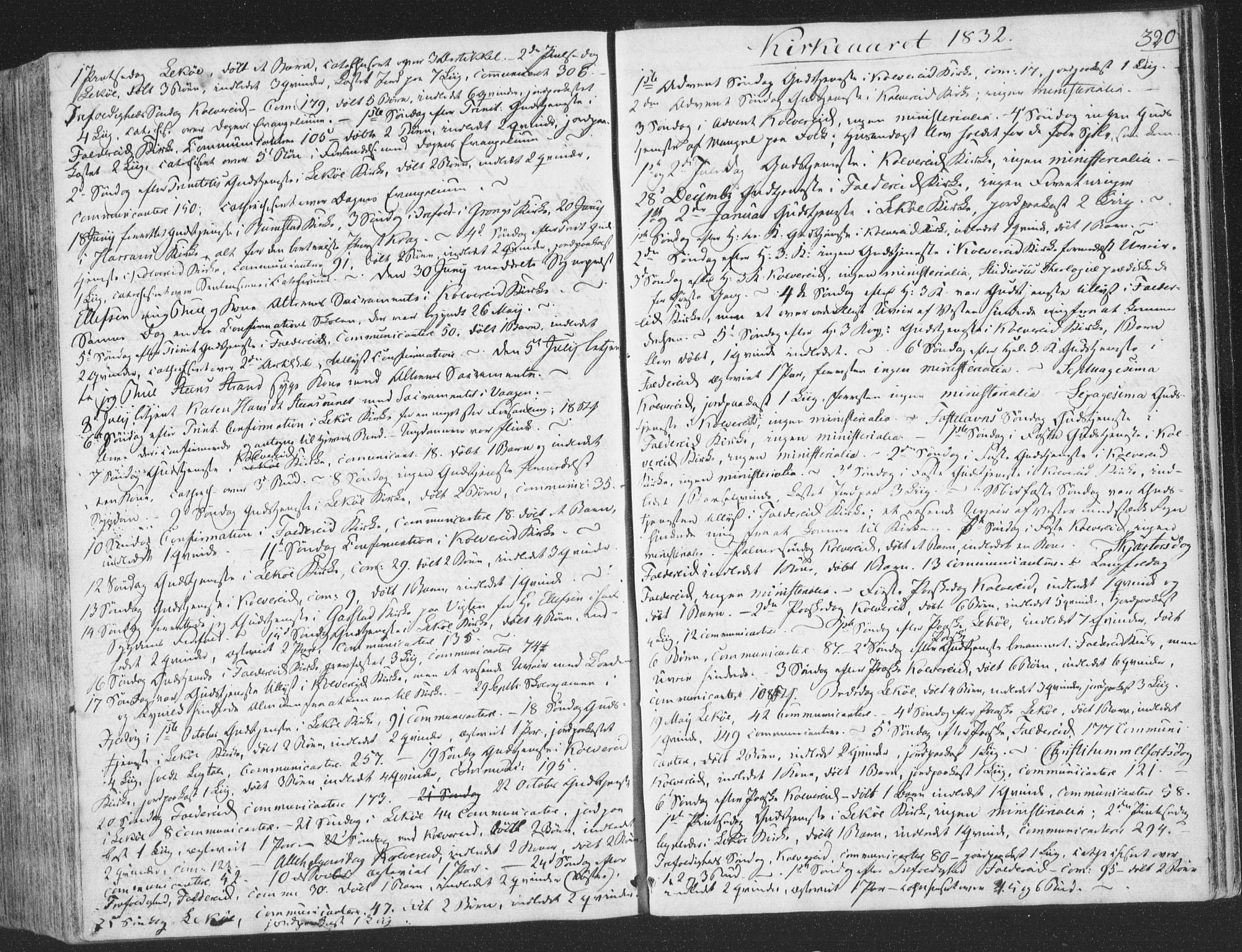 SAT, Ministerialprotokoller, klokkerbøker og fødselsregistre - Nord-Trøndelag, 780/L0639: Ministerialbok nr. 780A04, 1830-1844, s. 320