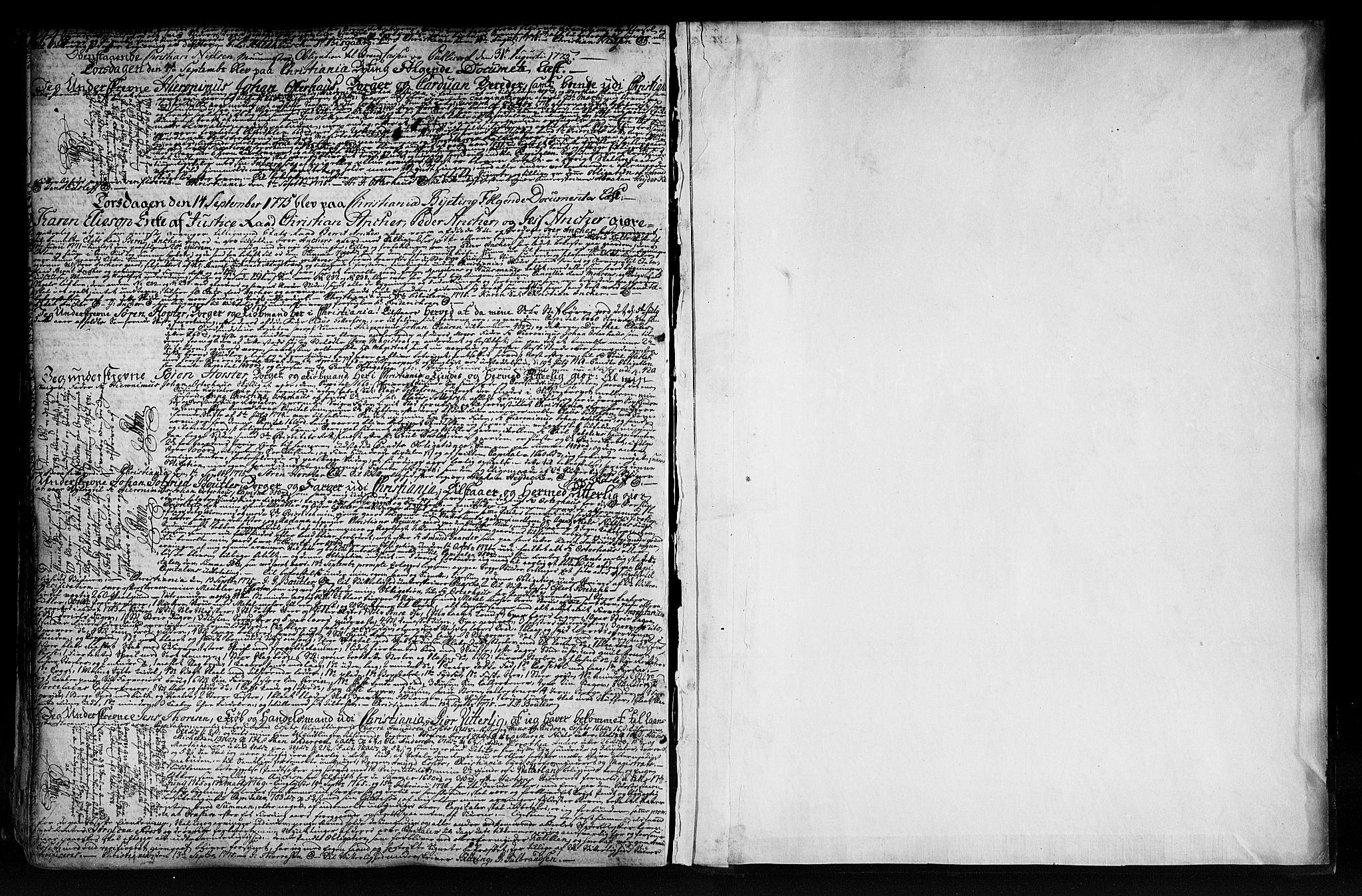 SAO, Christiania byfogd, G/Gb/Gba/L0009a: Pantebok nr. 9a, 1764-1775, s. 448